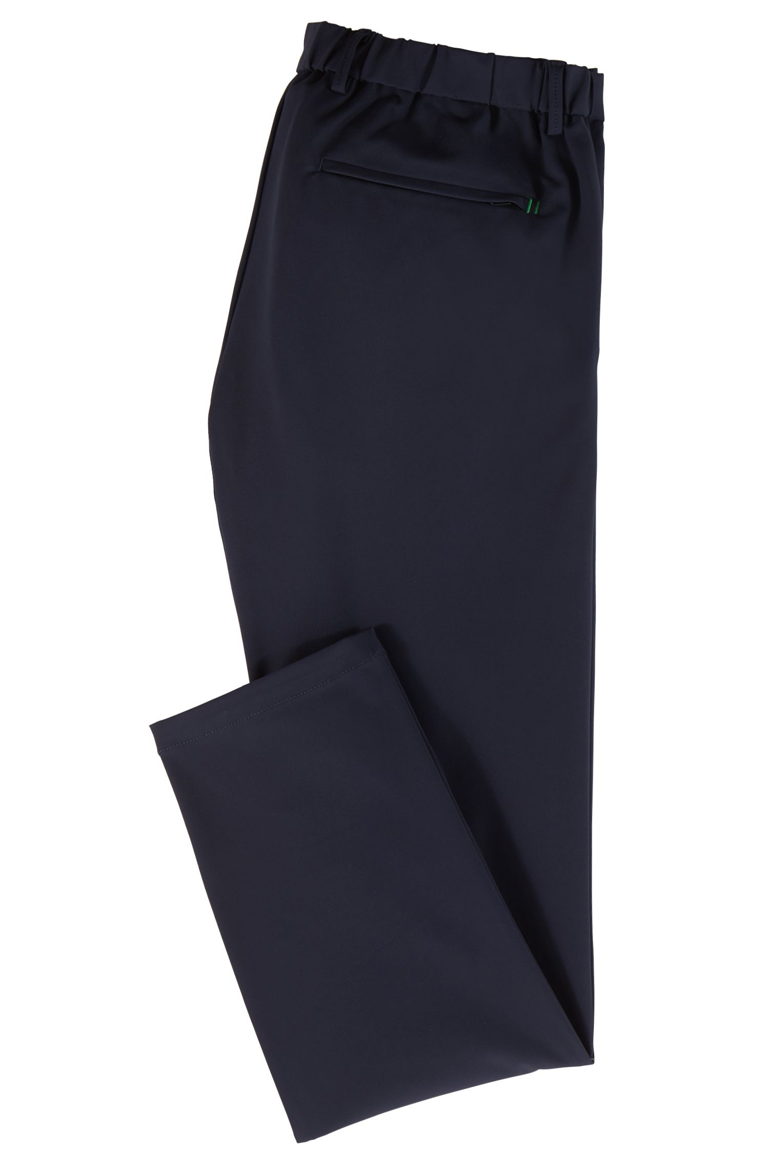 Slim-fit water-repellent trousers in four-way stretch fabric, Dark Blue