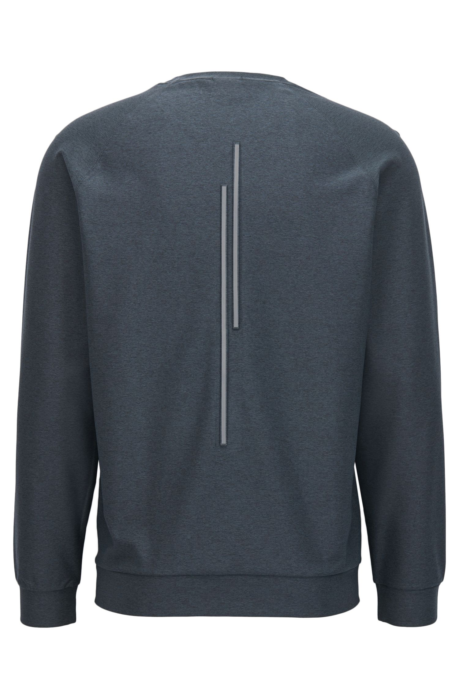 Slim-fit mélange sweatshirt with S.Café®