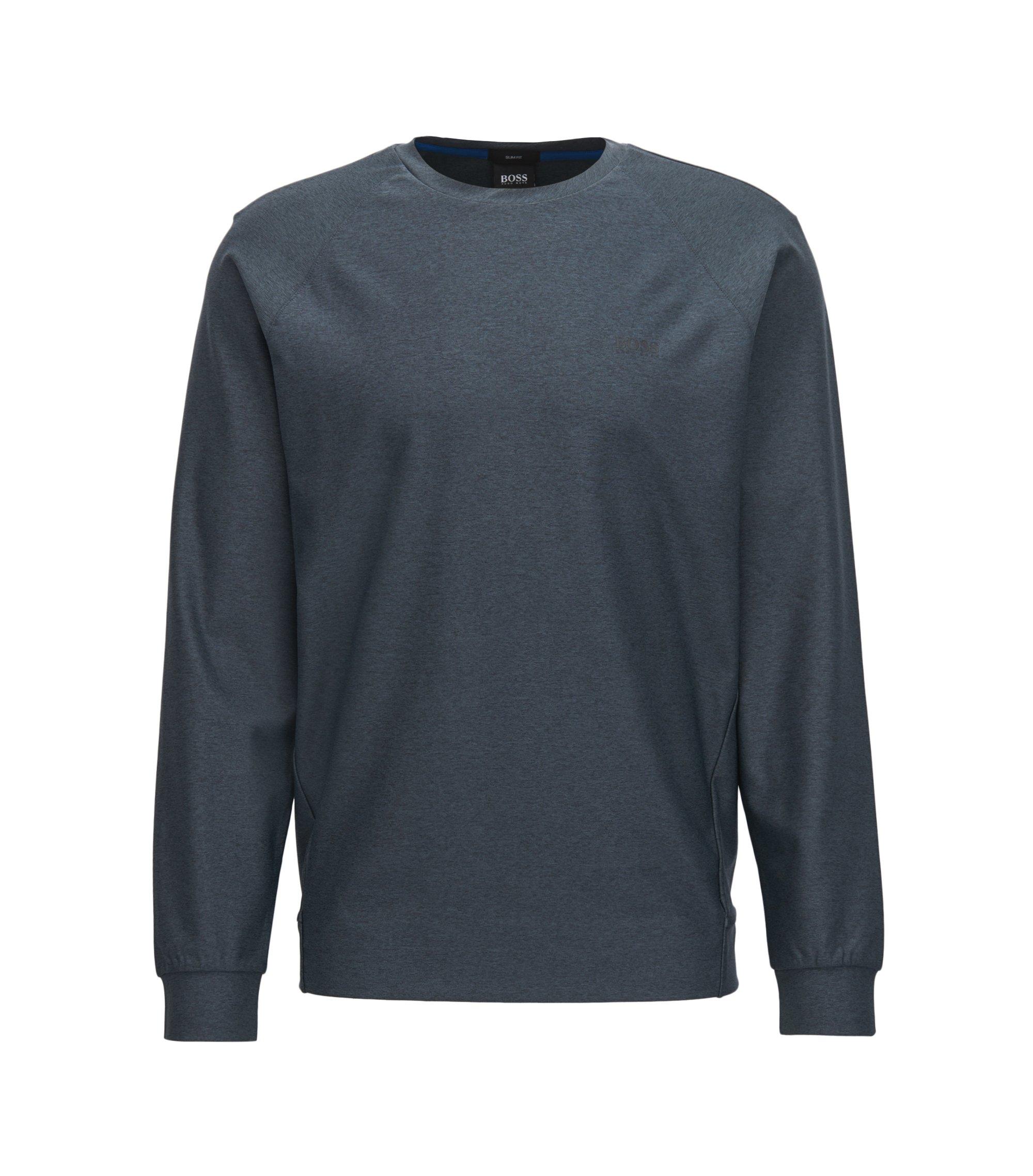 Meliertes Sweatshirt mit S.Café®-Fasern, Schwarz