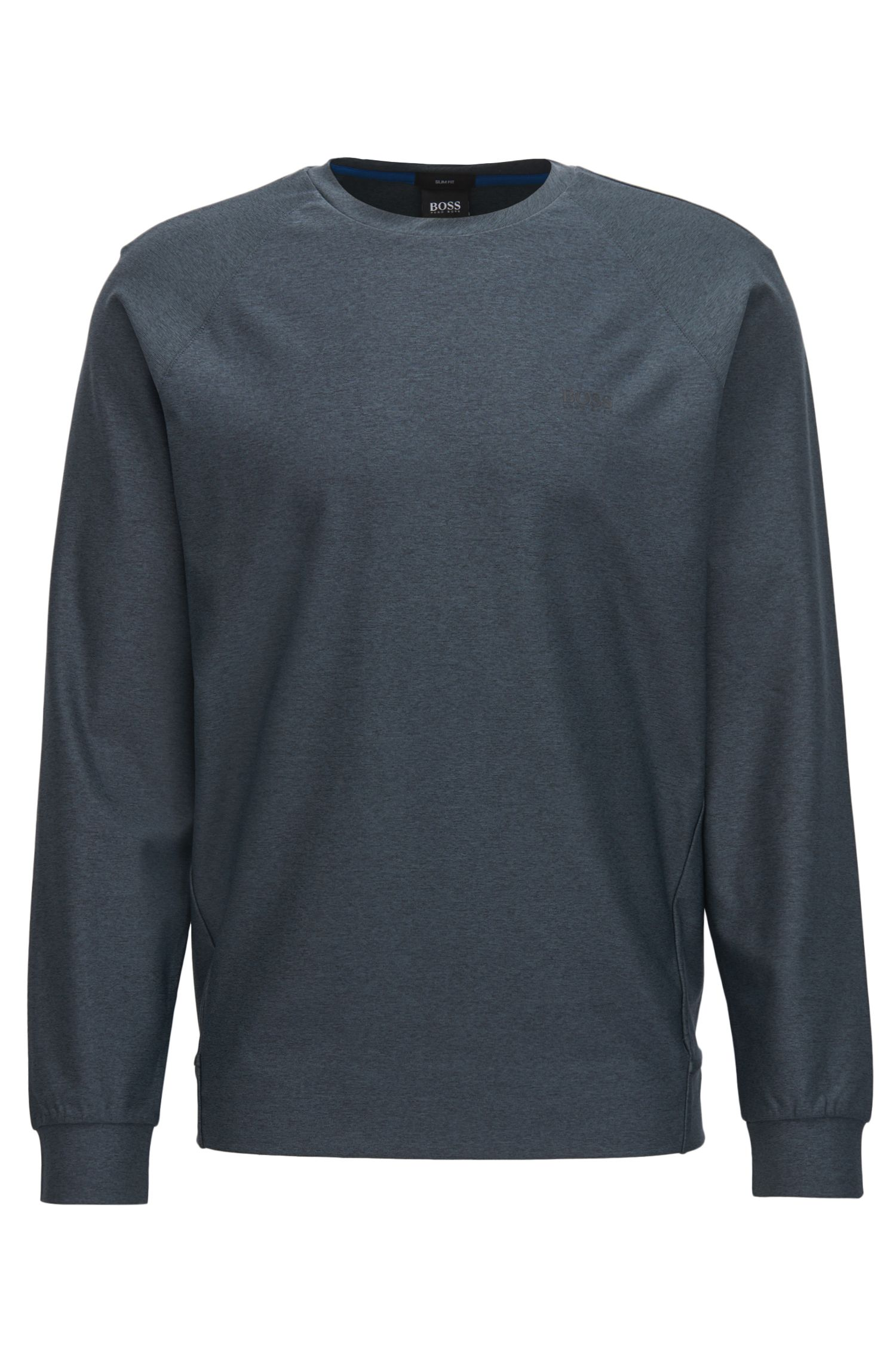 Slim-fit mélange sweatshirt with S.Café®