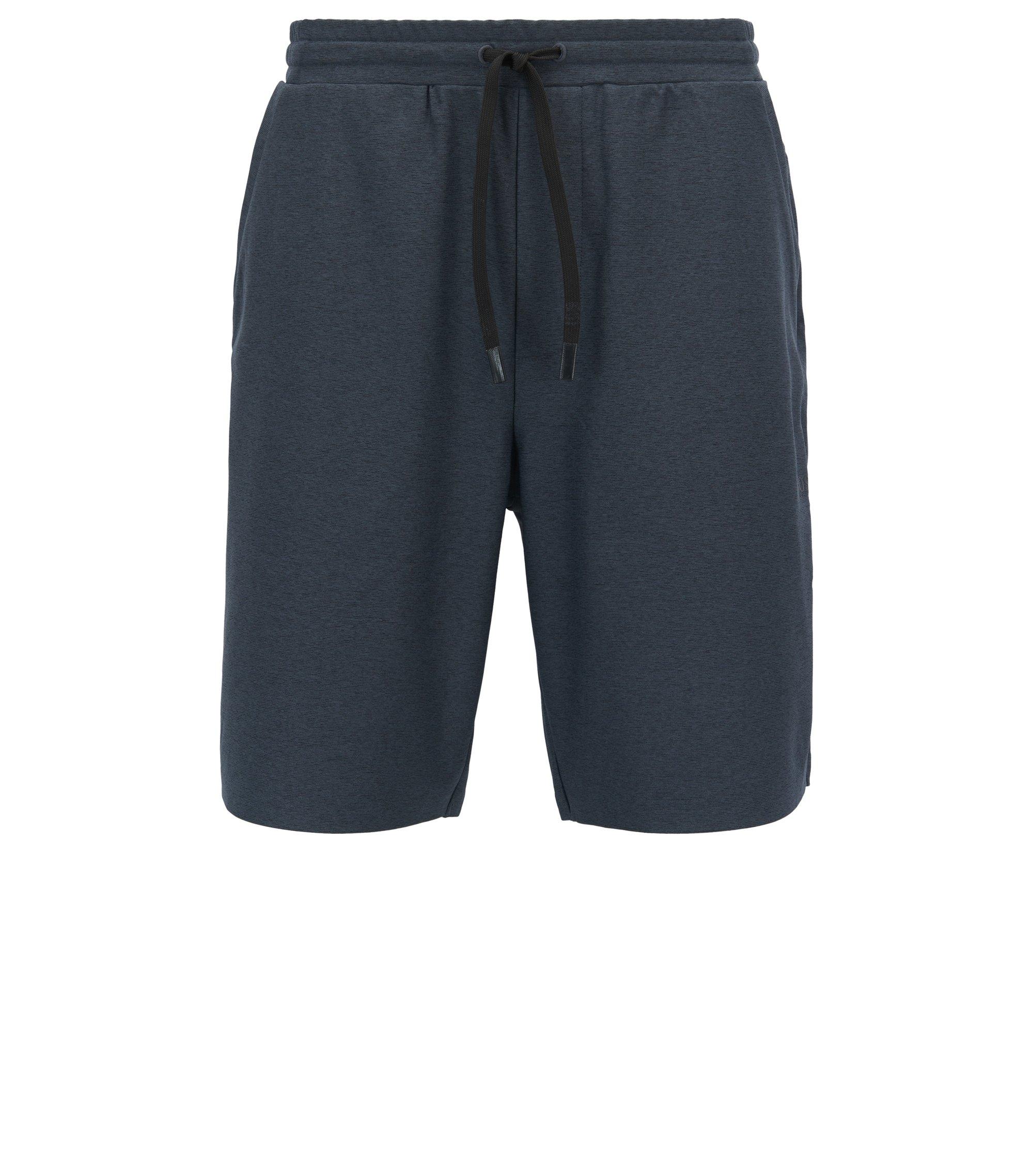 Short en jersey chiné avec filS.Café®, Noir