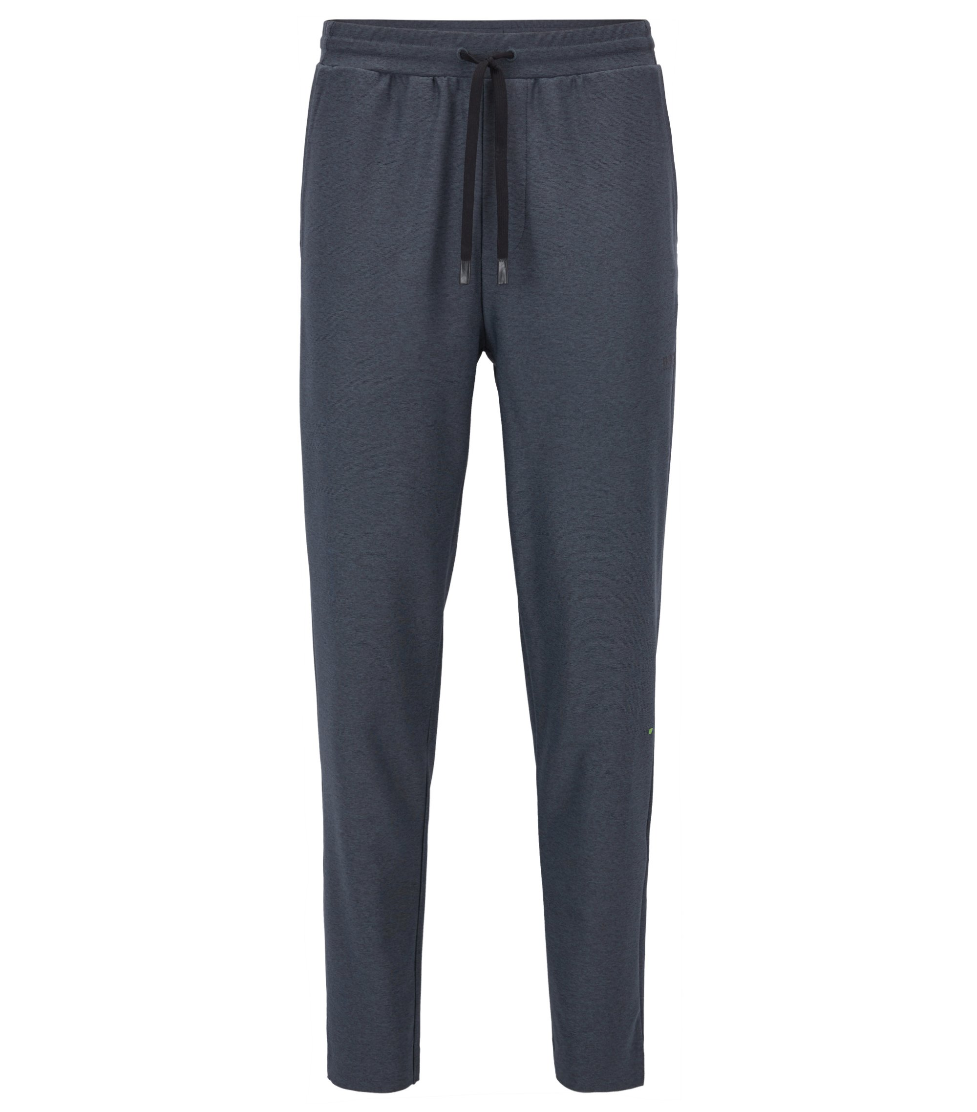 Slim-fit jogging bottoms in technical stretch fabric, Black