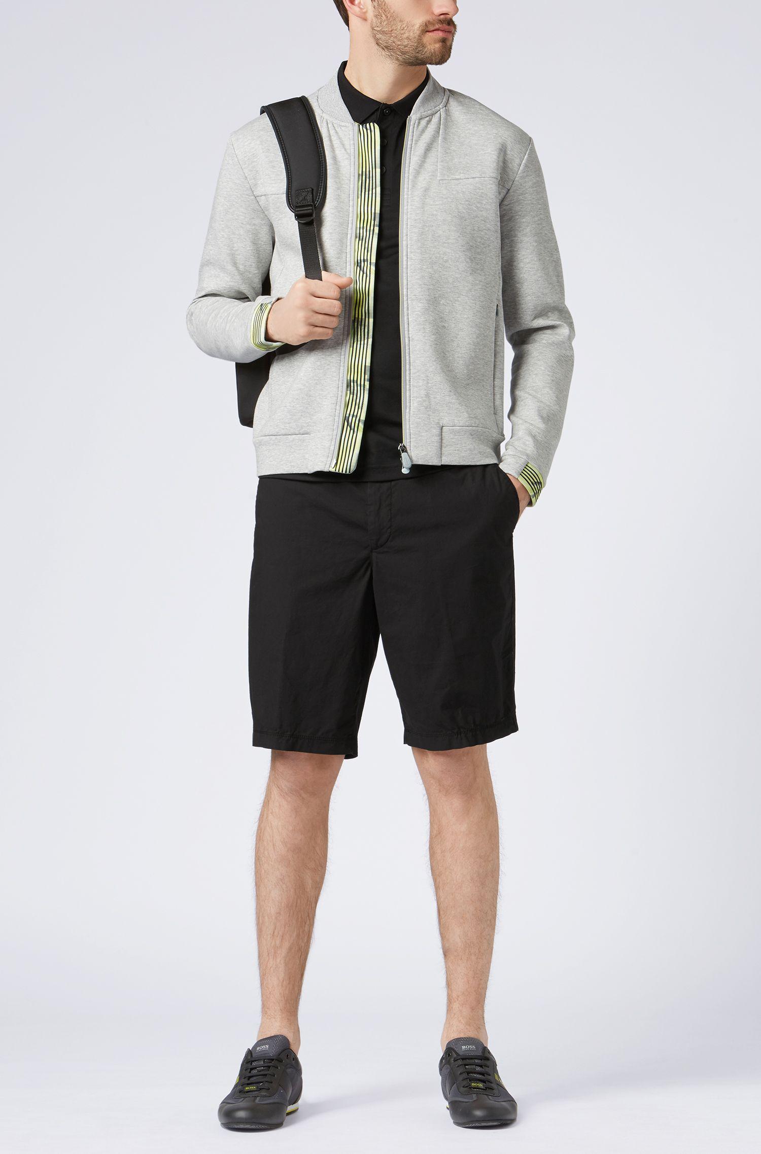 Pantaloncini regular fit in leggero cotone elasticizzato