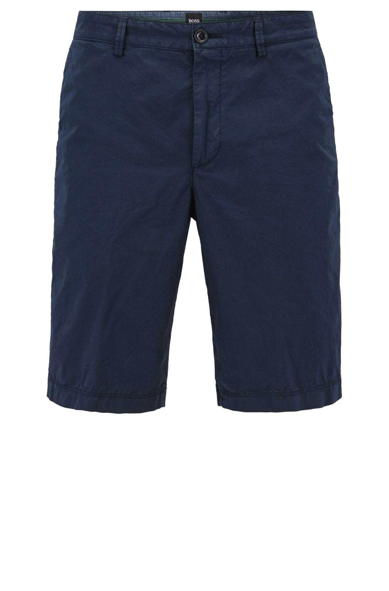 Shorts regular fit en algodón elástico ligero