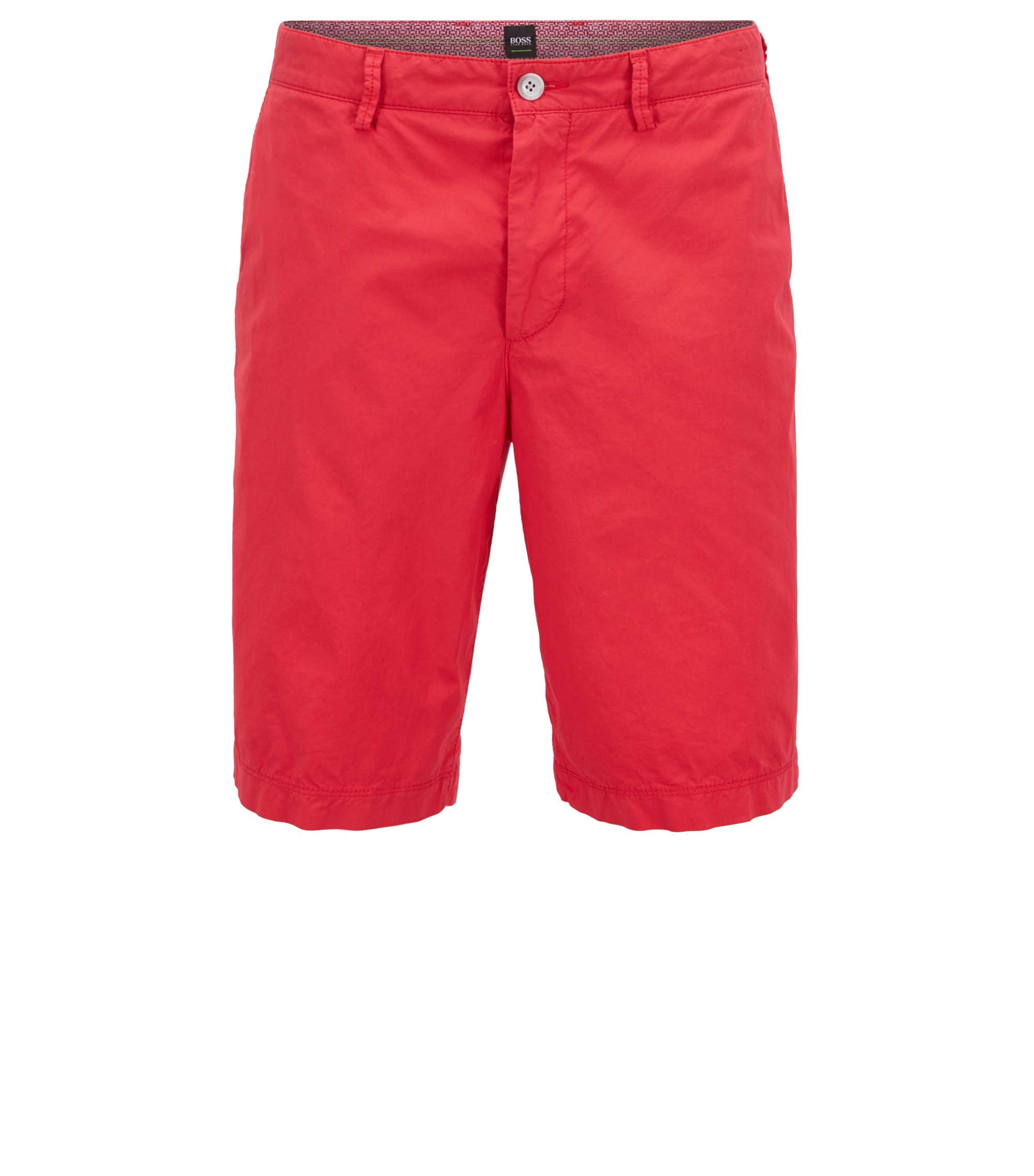 Short Regular Fit en coton stretch léger, Rouge