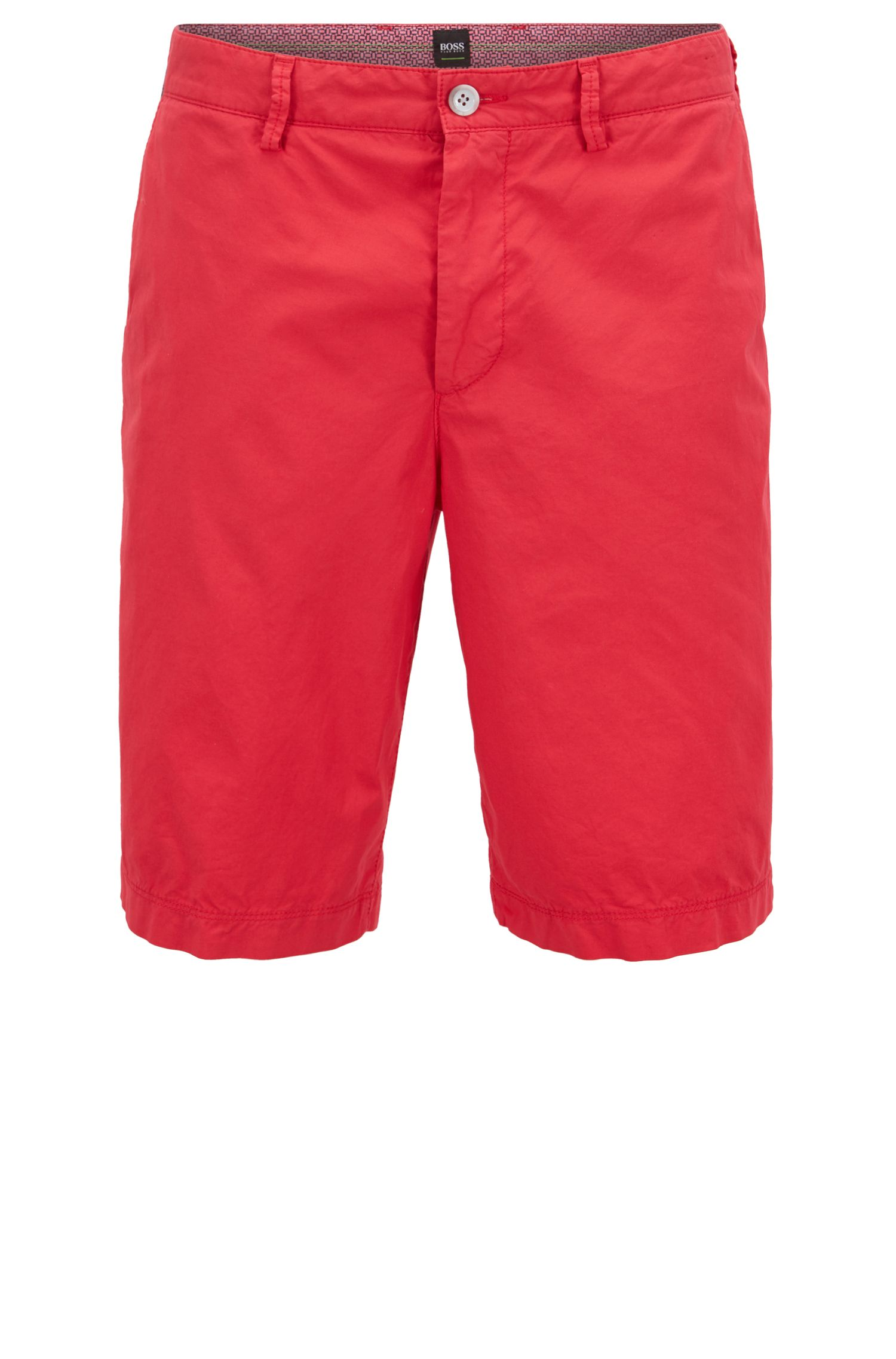 Regular-fit shorts in lightweight stretch cotton
