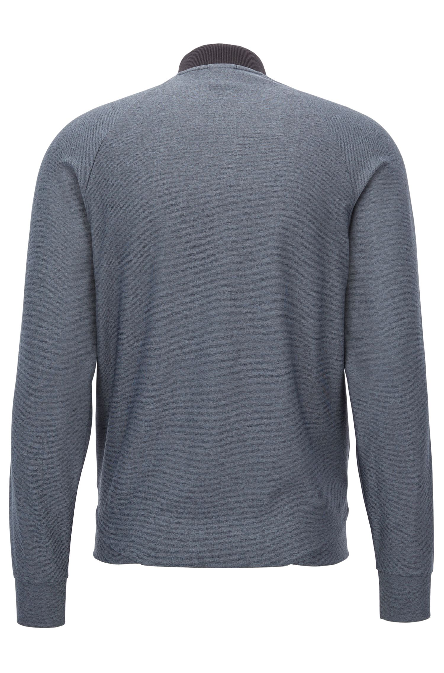 Gemêleerd sweatshirt met ritssluiting en S.Café®