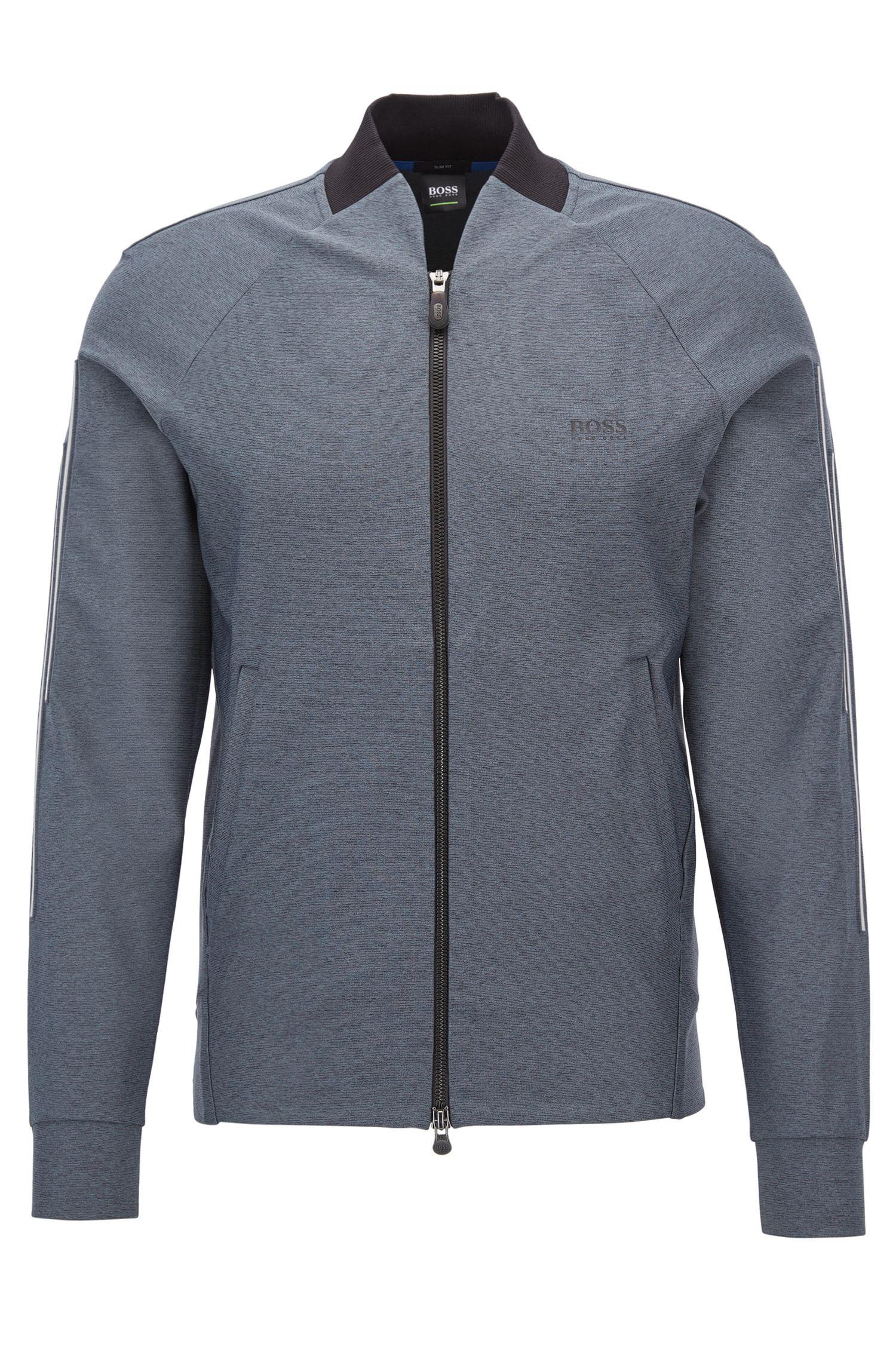 Zip-through mélange sweatshirt with S.Café®