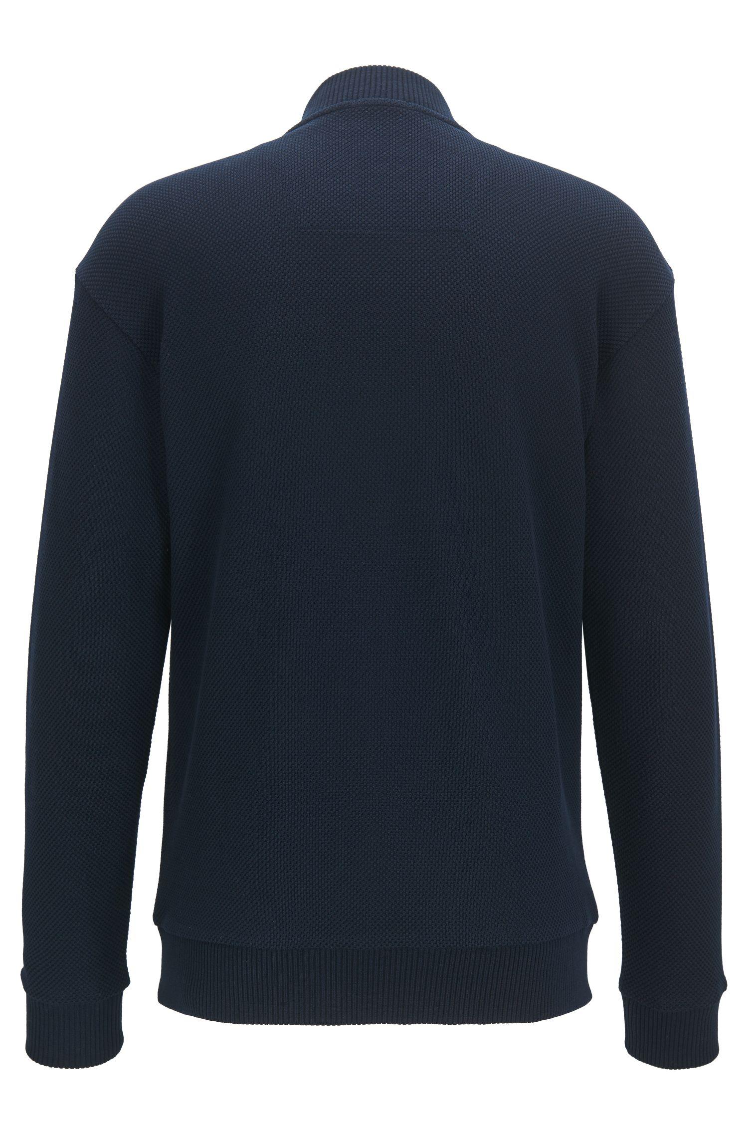 Sweatshirt van fijne Italiaanse katoen met rits
