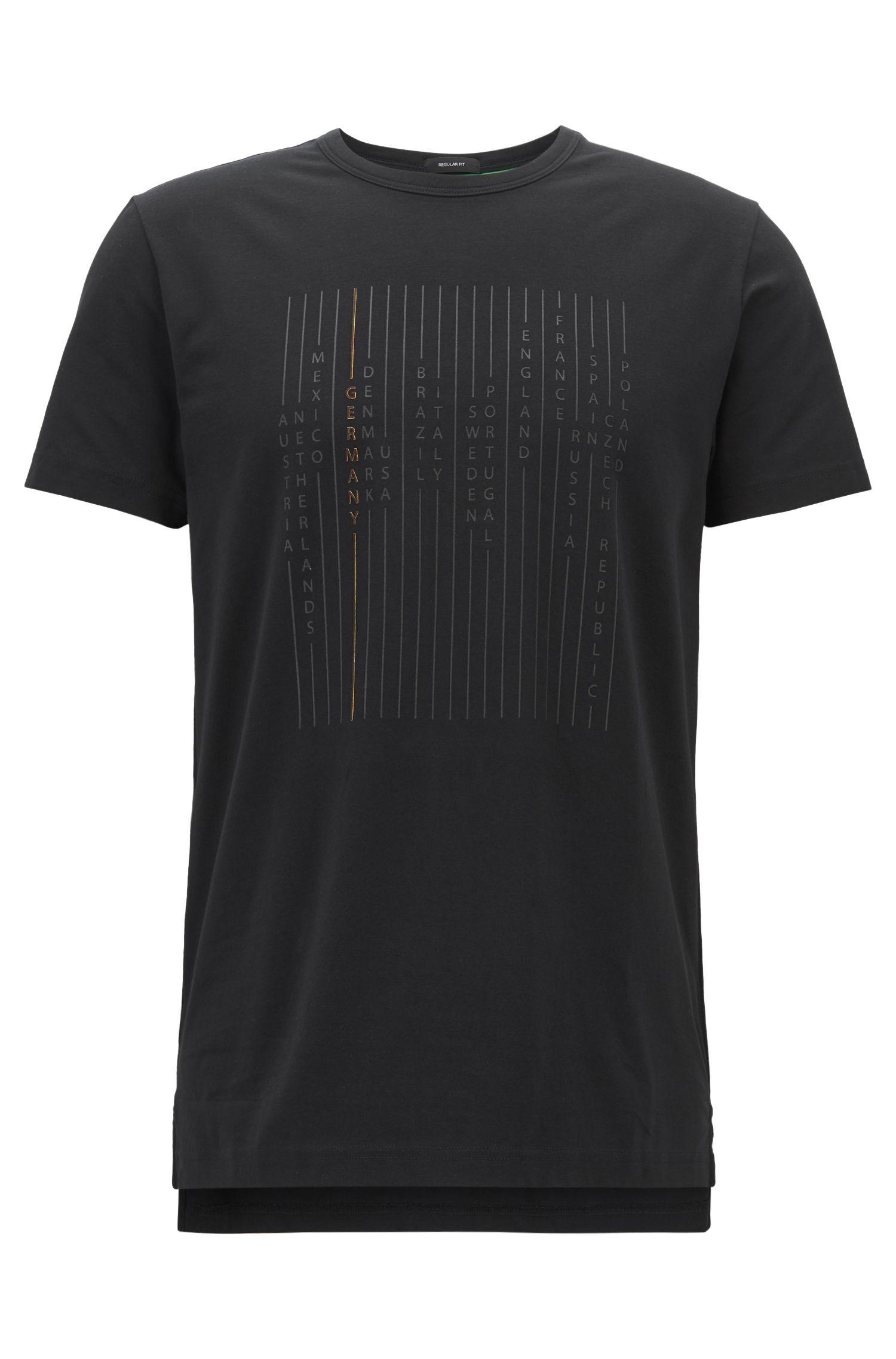 T-Shirt aus Stretch-Baumwolle mit Nationalteam-Print