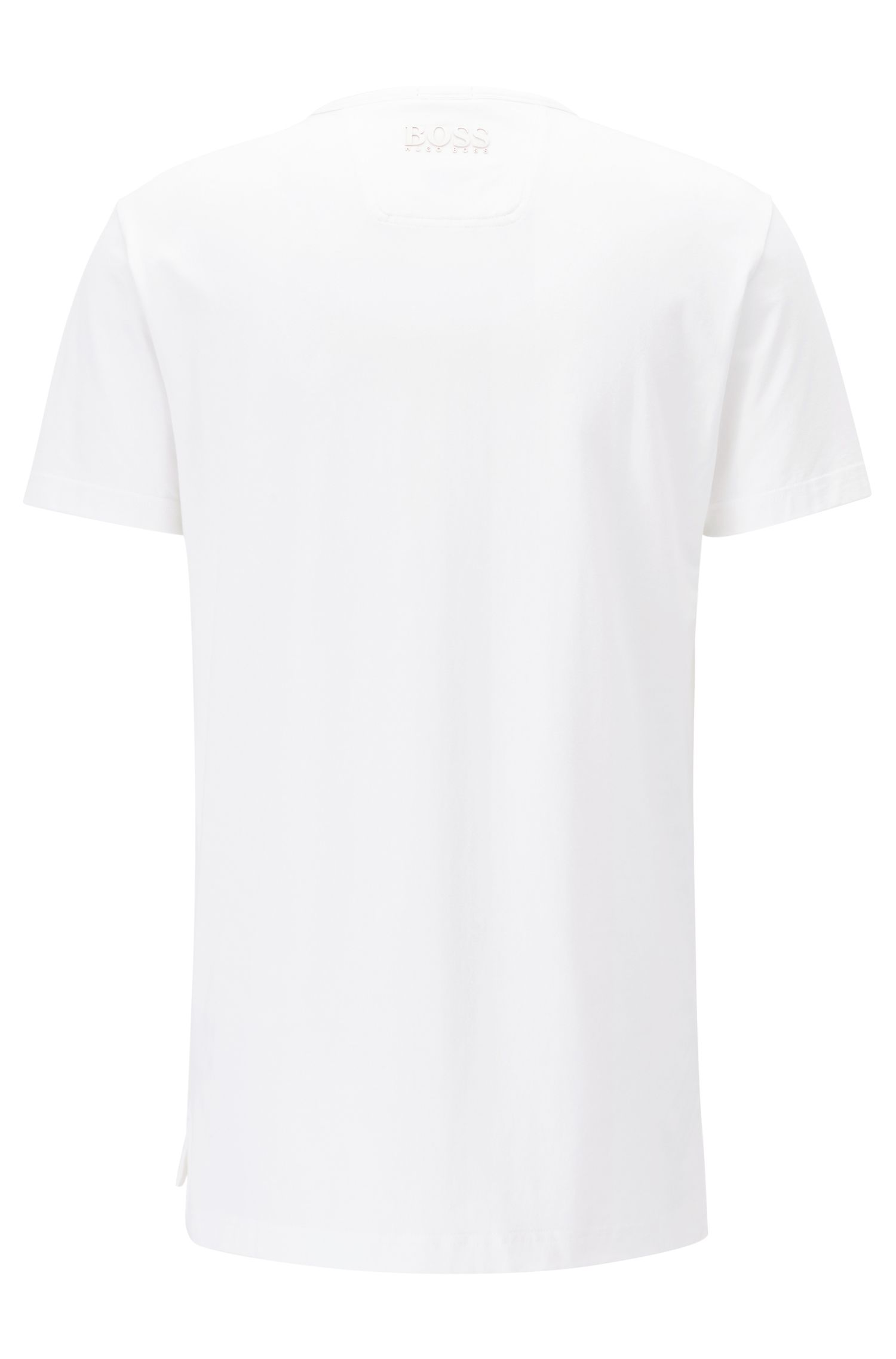 Stretch cotton T-shirt with national team print