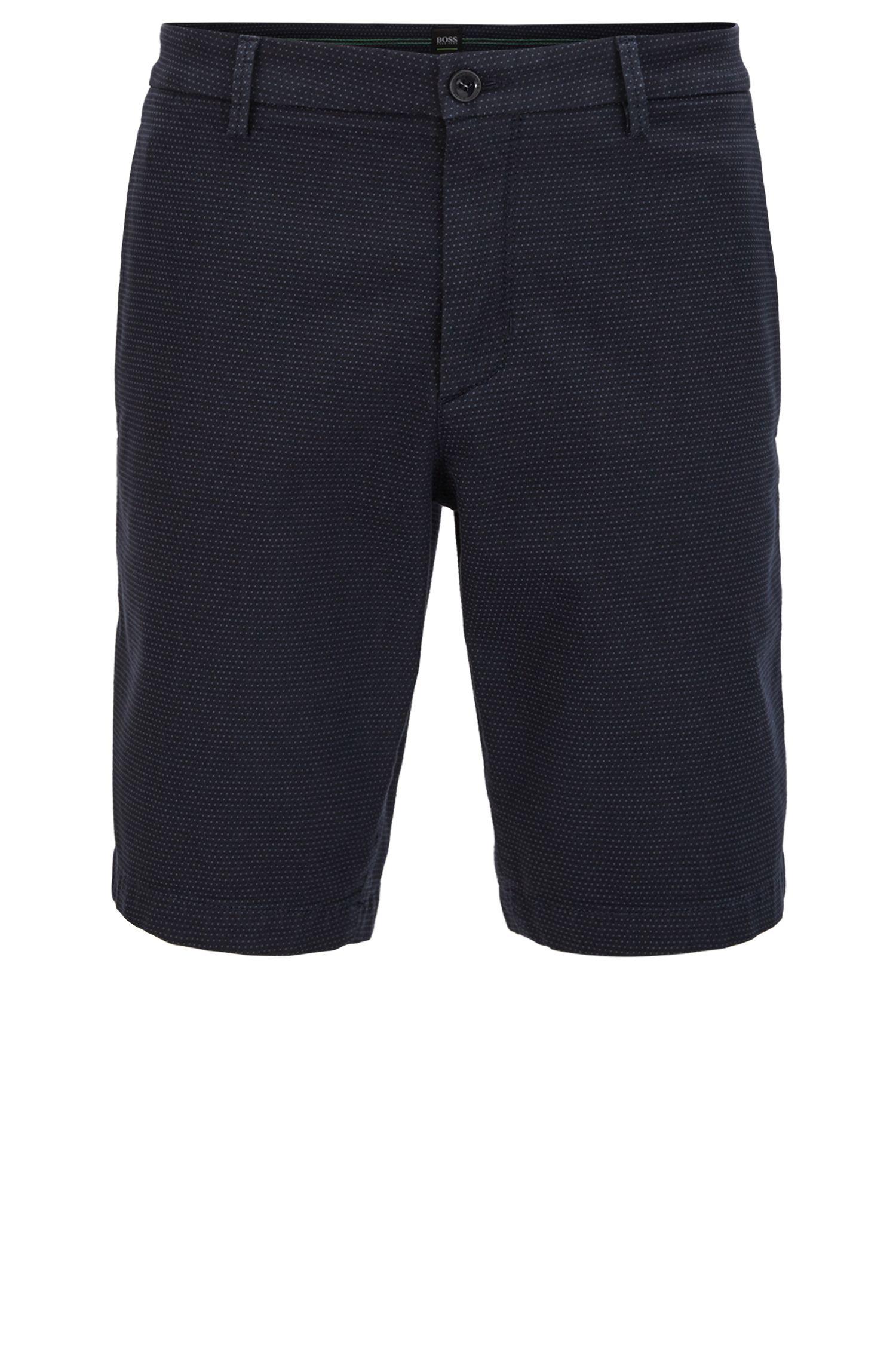 Slim-Fit Shorts aus fein strukturierter Stretch-Baumwolle