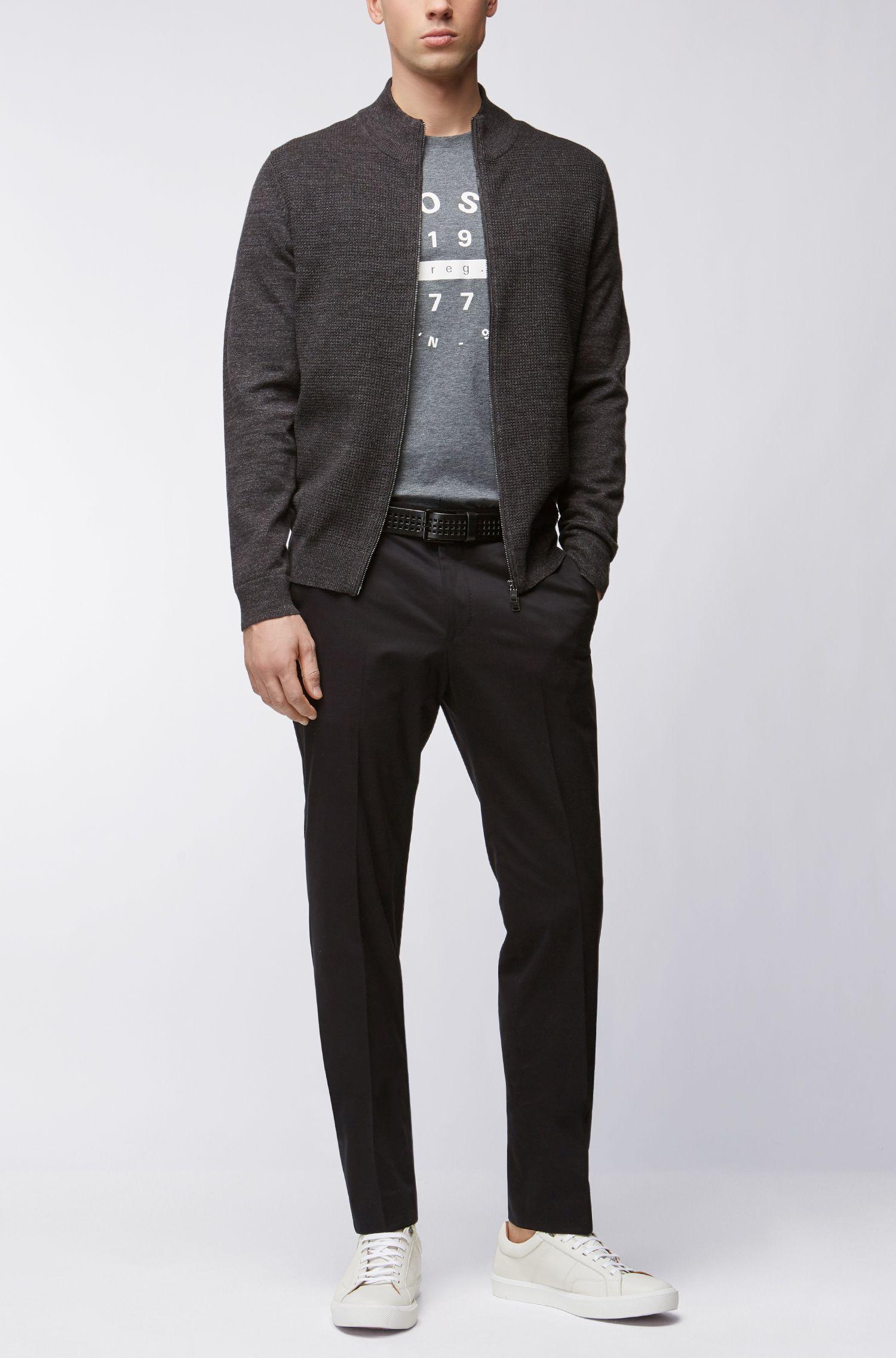 Slim-Fit Print-Shirt aus Pima-Baumwolle