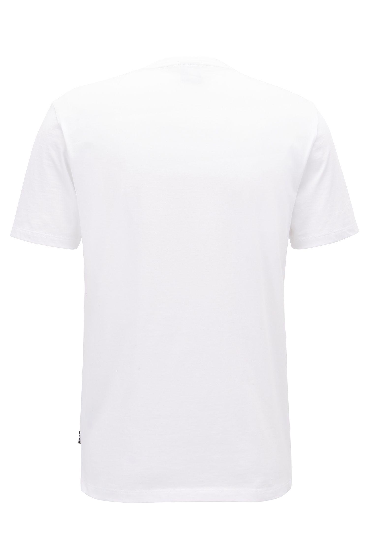 Slim-fit T-shirt met print, van pimakatoen