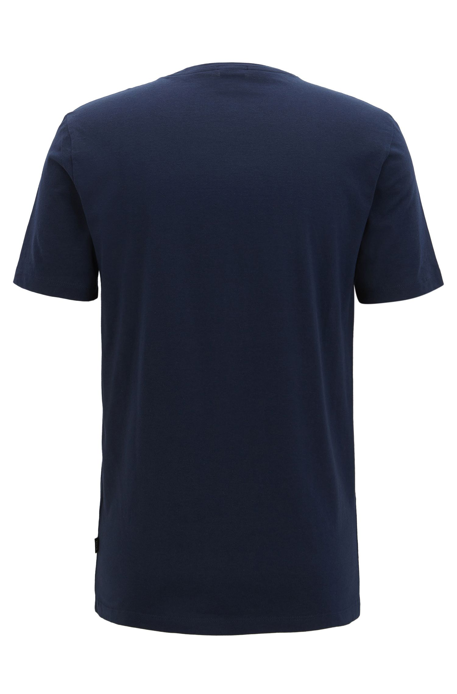 Slim-fit printed T-shirt in Pima cotton
