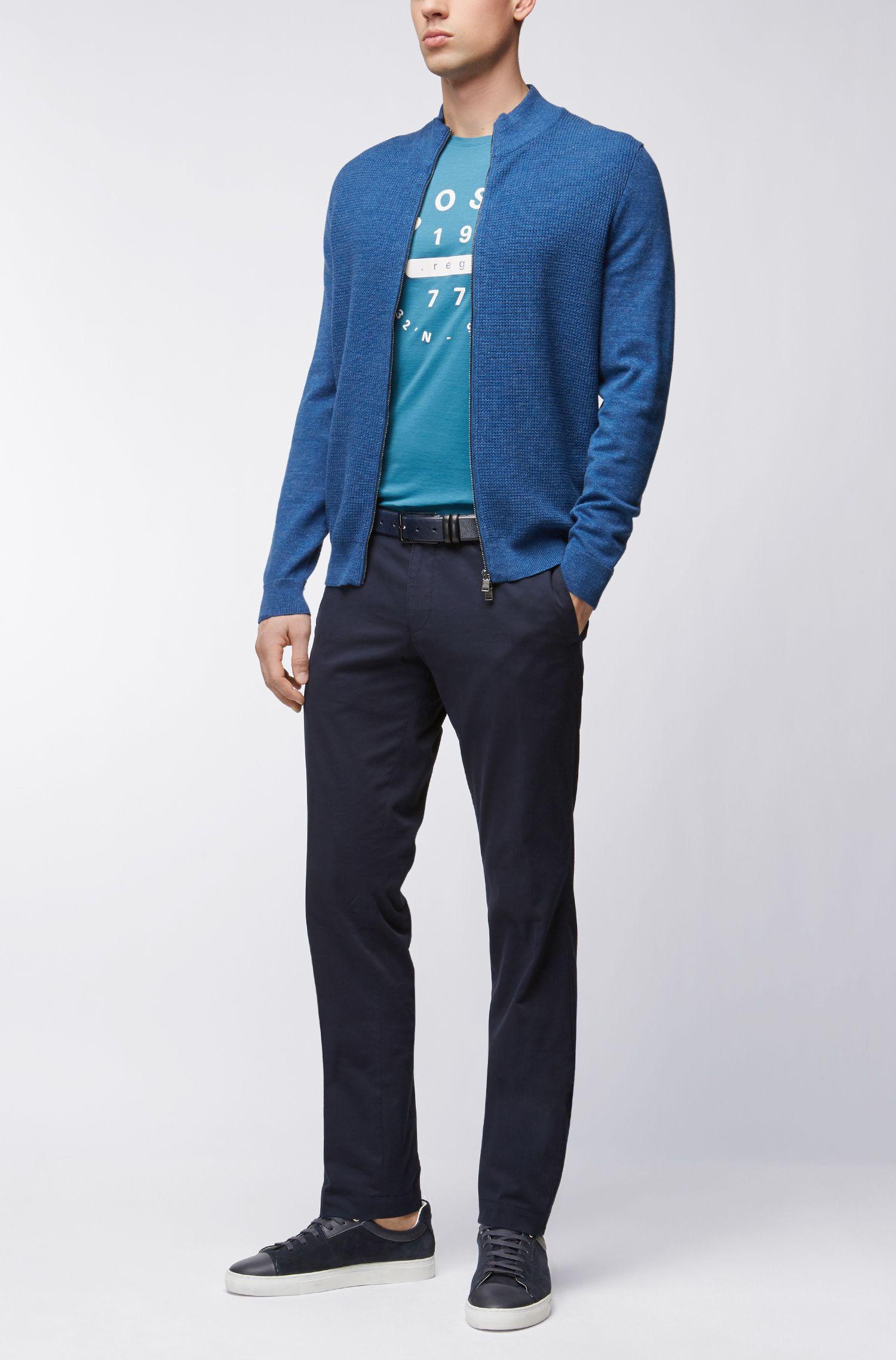 T-shirt Slim Fit en coton Pima à imprimé