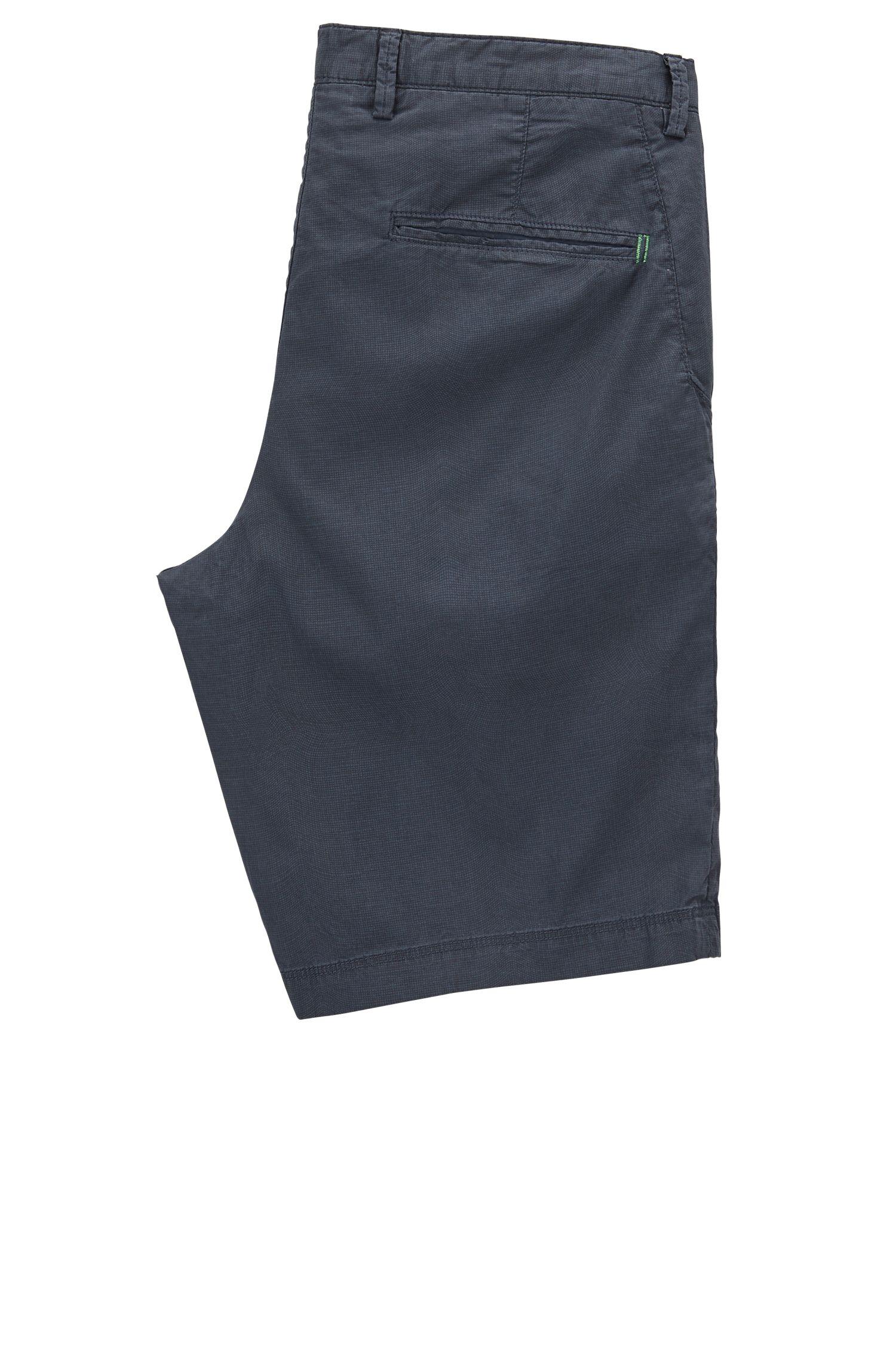 Short van stretchkatoen met microruiten