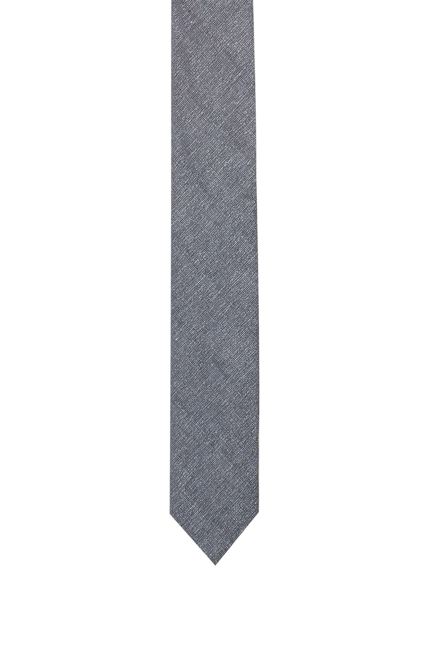 Jacquard tie in a linen blend
