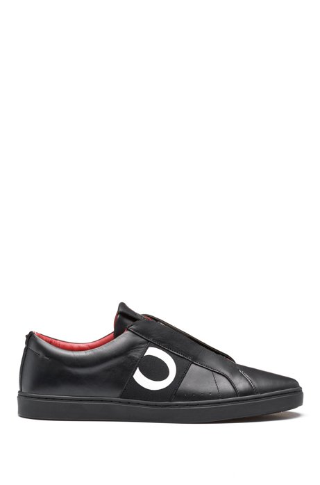 Leather trainers with statement logo HUGO BOSS y2nZqi49