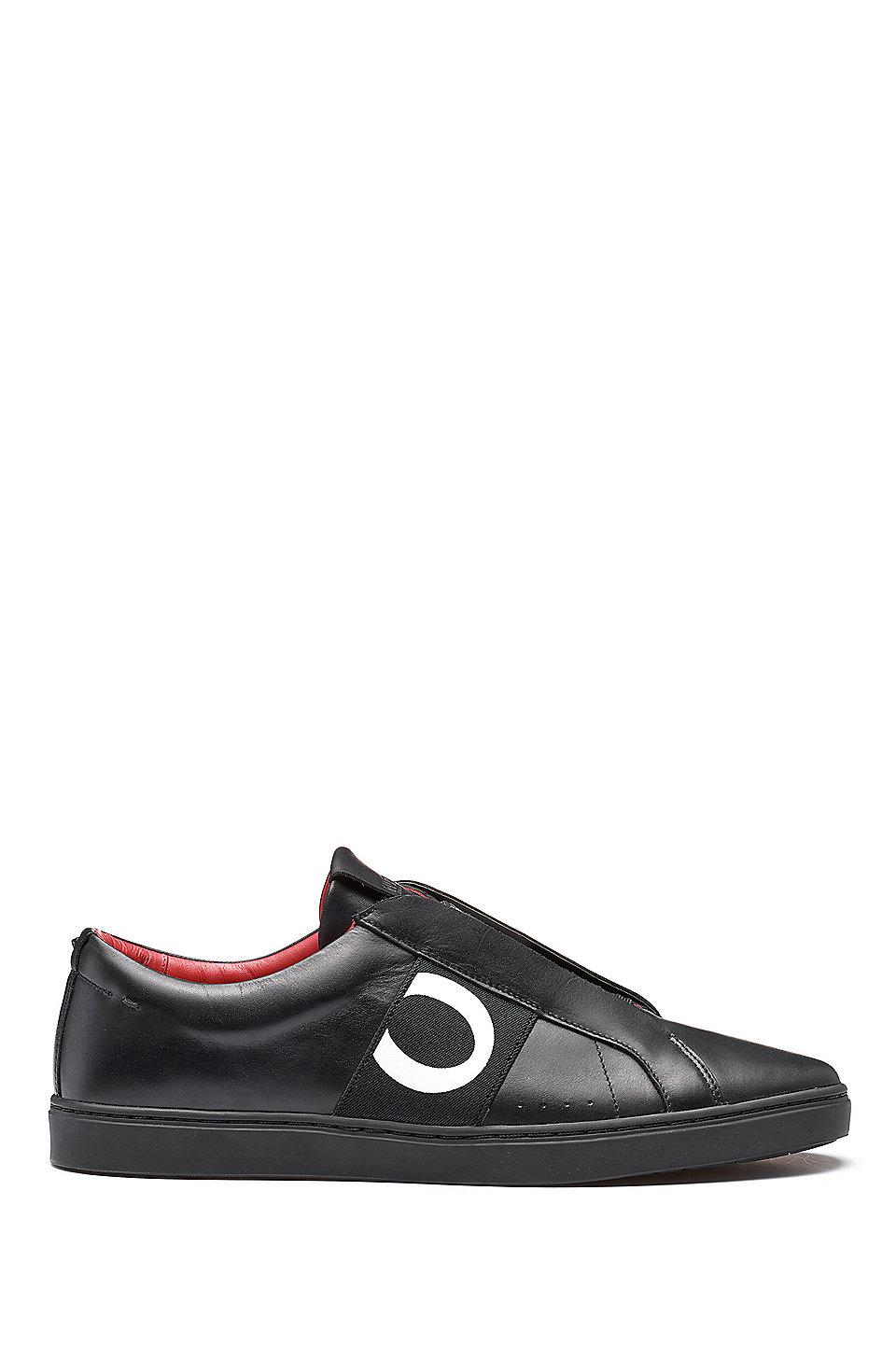 Chaussures De Sport En Cuir Avec Des Détails De Couture De Hugo Boss Qdl2JQzv
