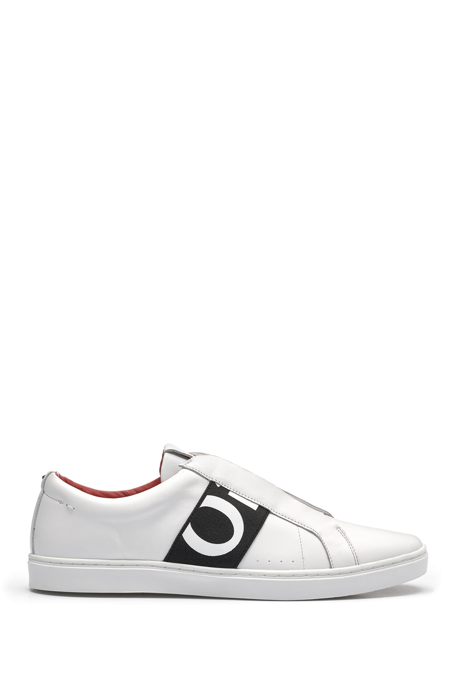 Leather trainers with statement logo HUGO BOSS