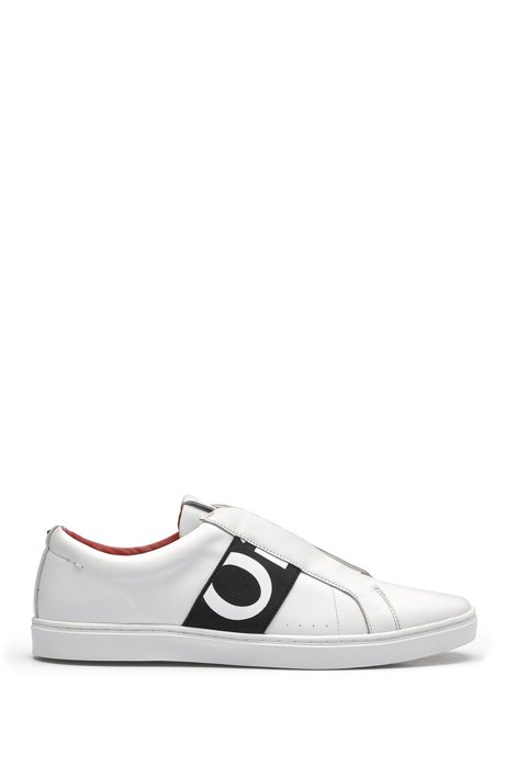 Leather trainers with statement logo HUGO BOSS mrp8yTPD2I