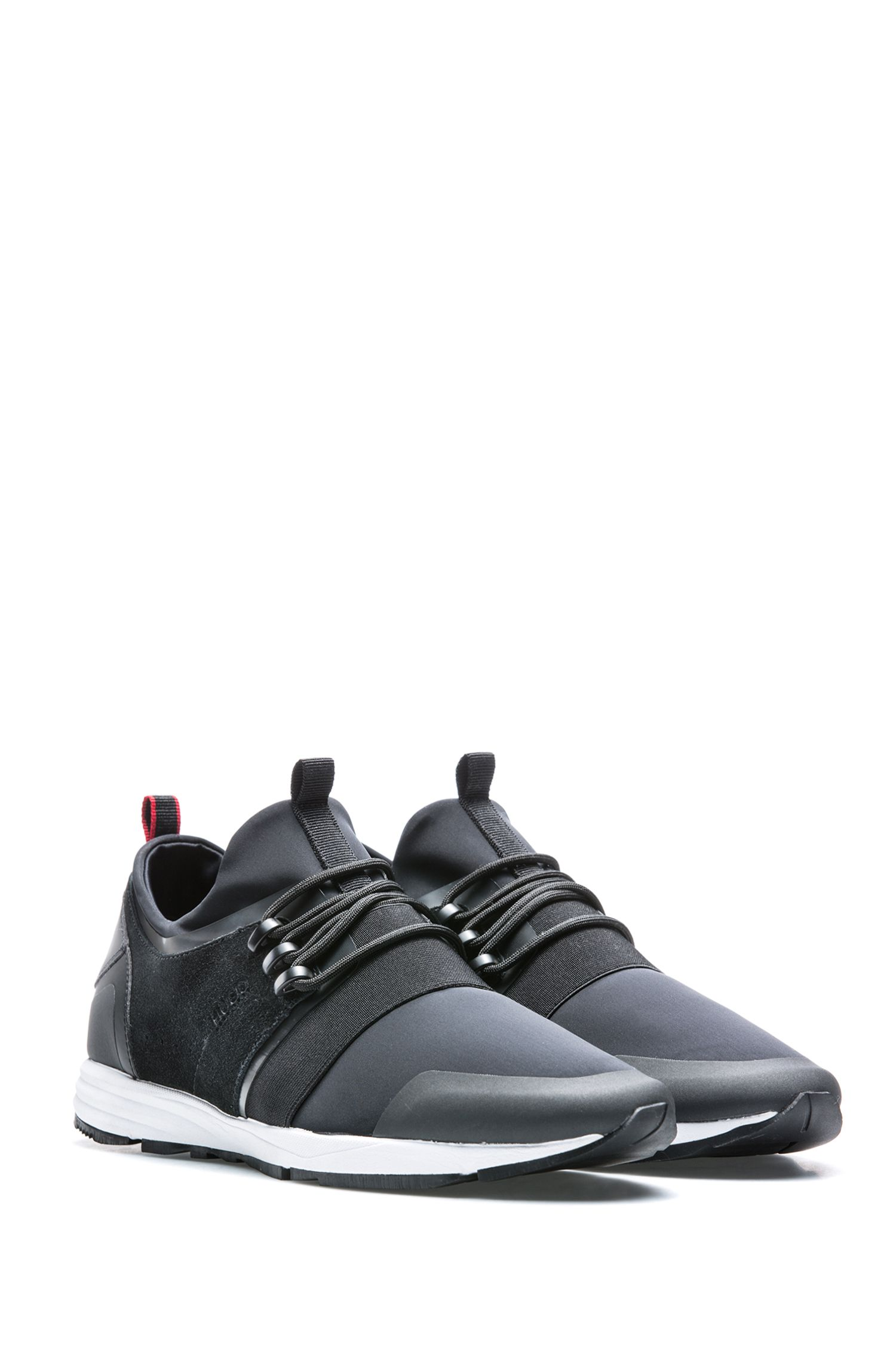Hybrid trainers with neoprene sock