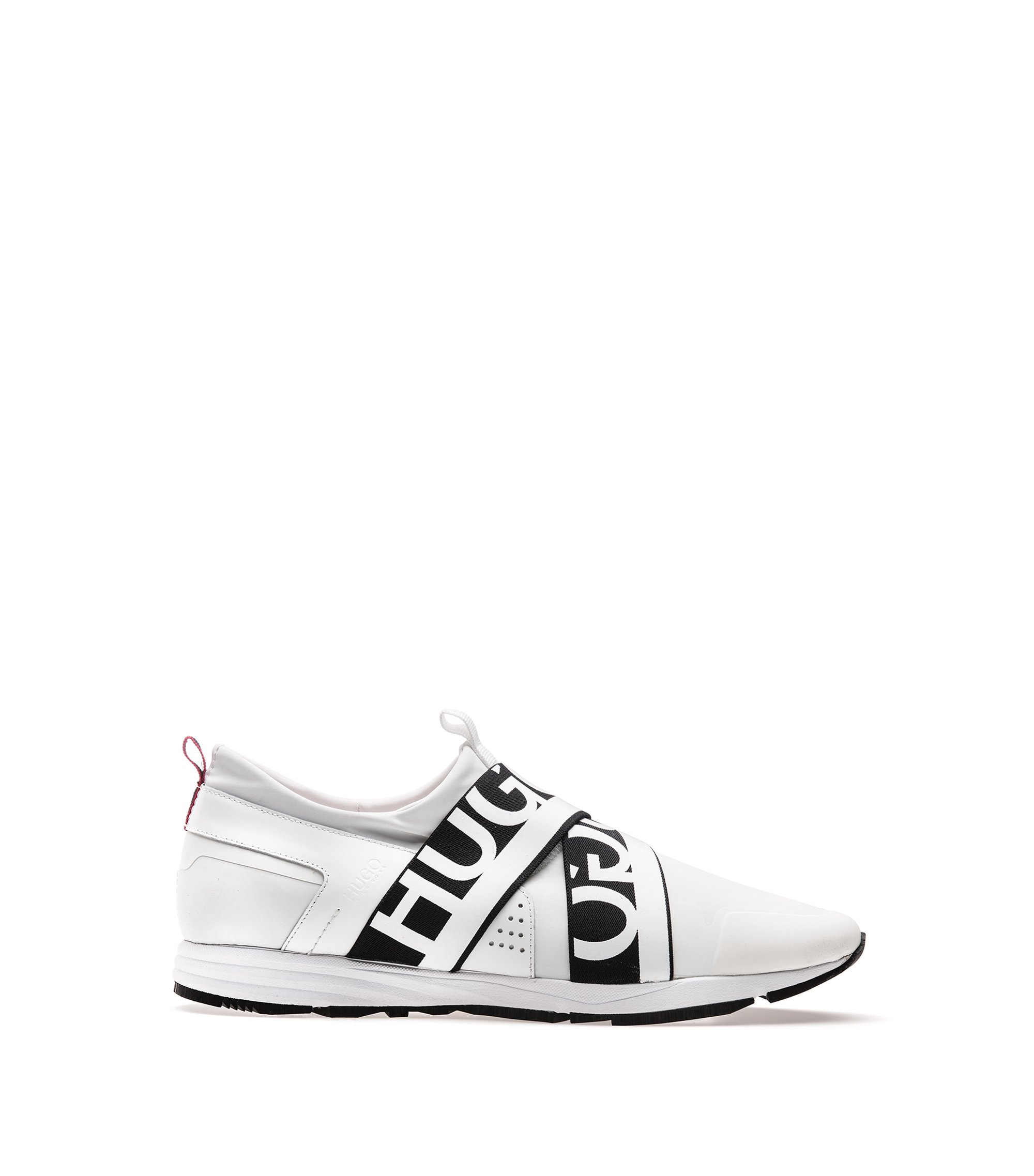 Hybrid trainers with logo bandages, White