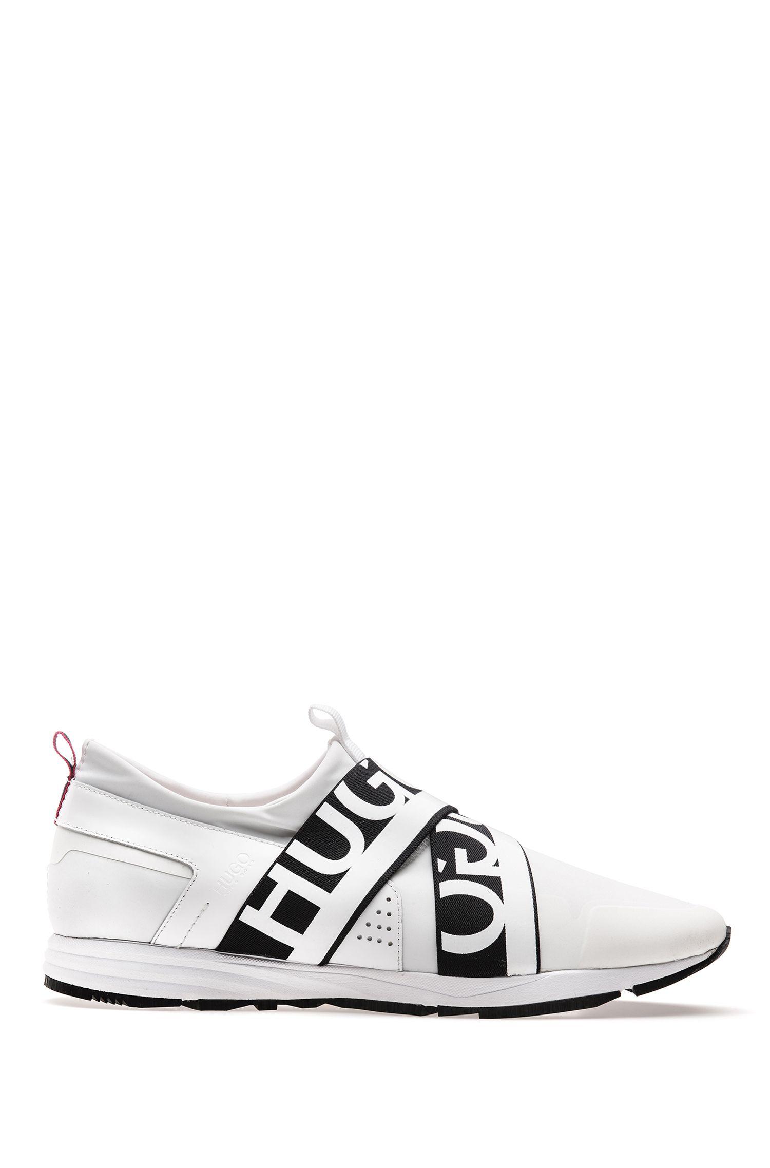 Sneakers ibride con fasce griffate