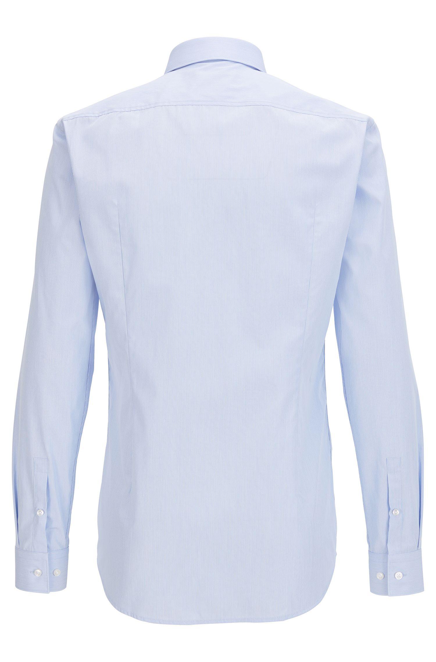 Gestreiftes Slim-Fit Hemd aus Baumwoll-Popeline