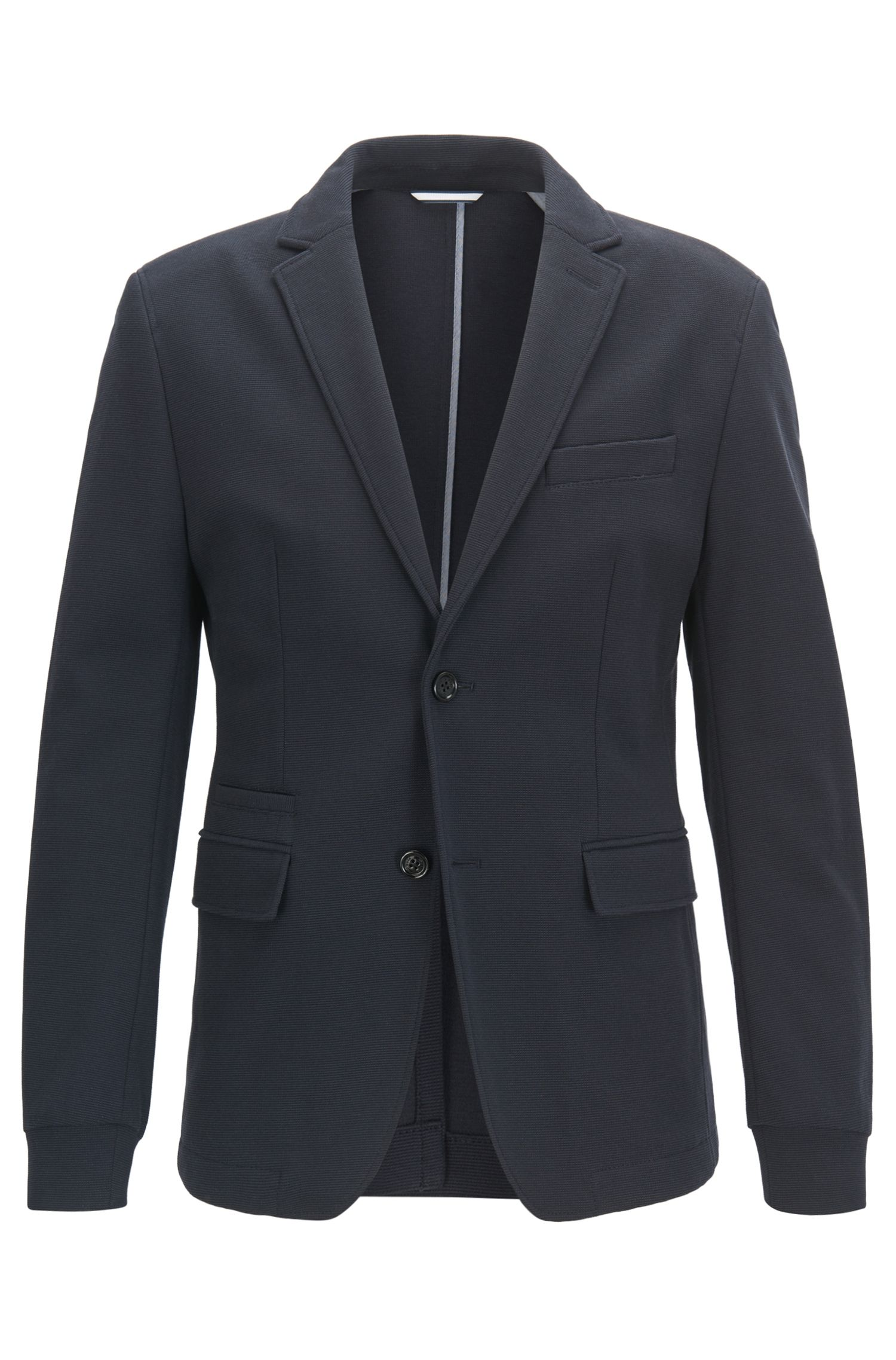 Giacca extra slim fit in jersey lavorato