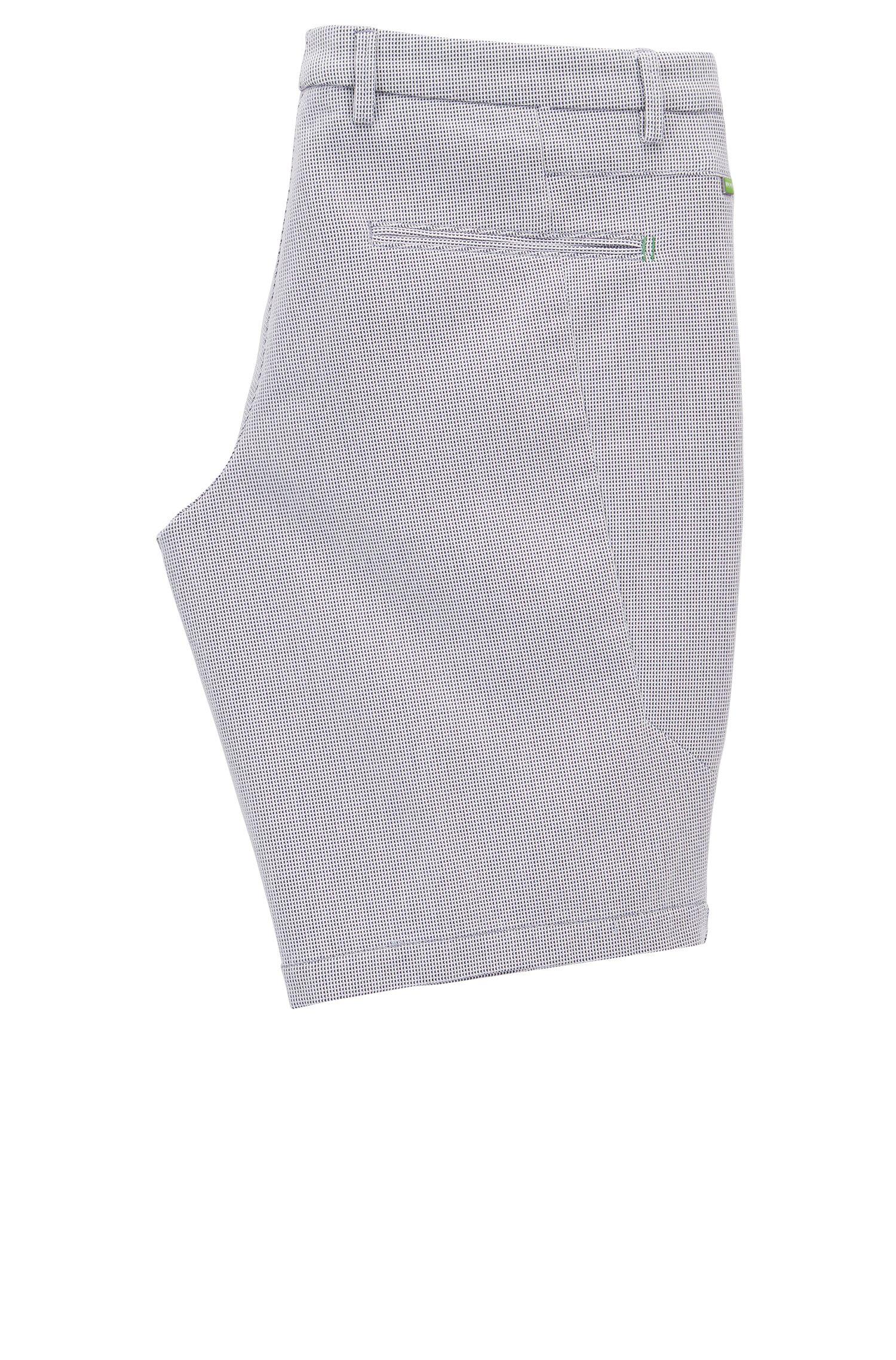 Pantaloncini slim fit in cotone elasticizzato lavorato