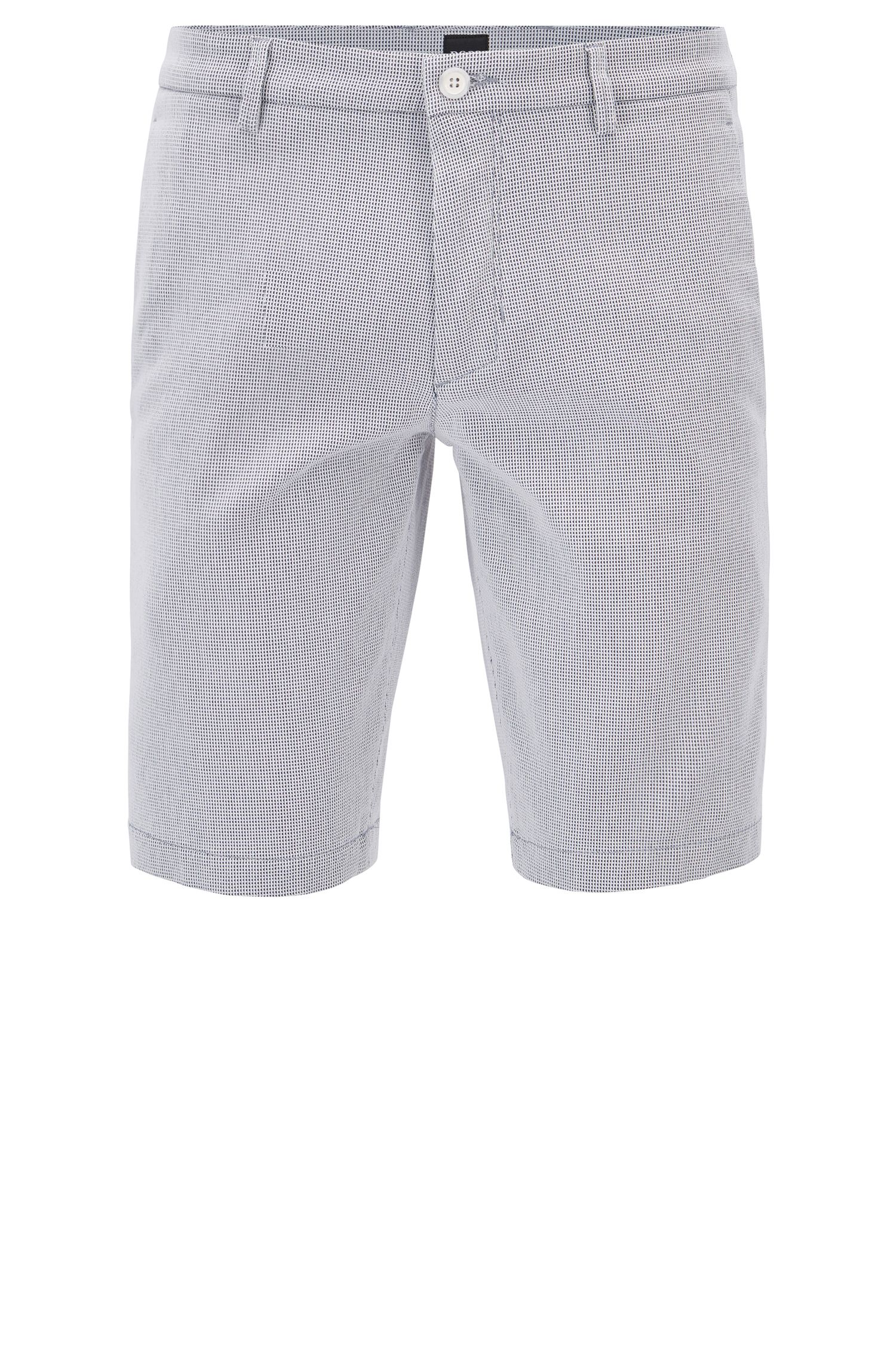 Slim-Fit Shorts aus strukturierter Stretch-Baumwolle