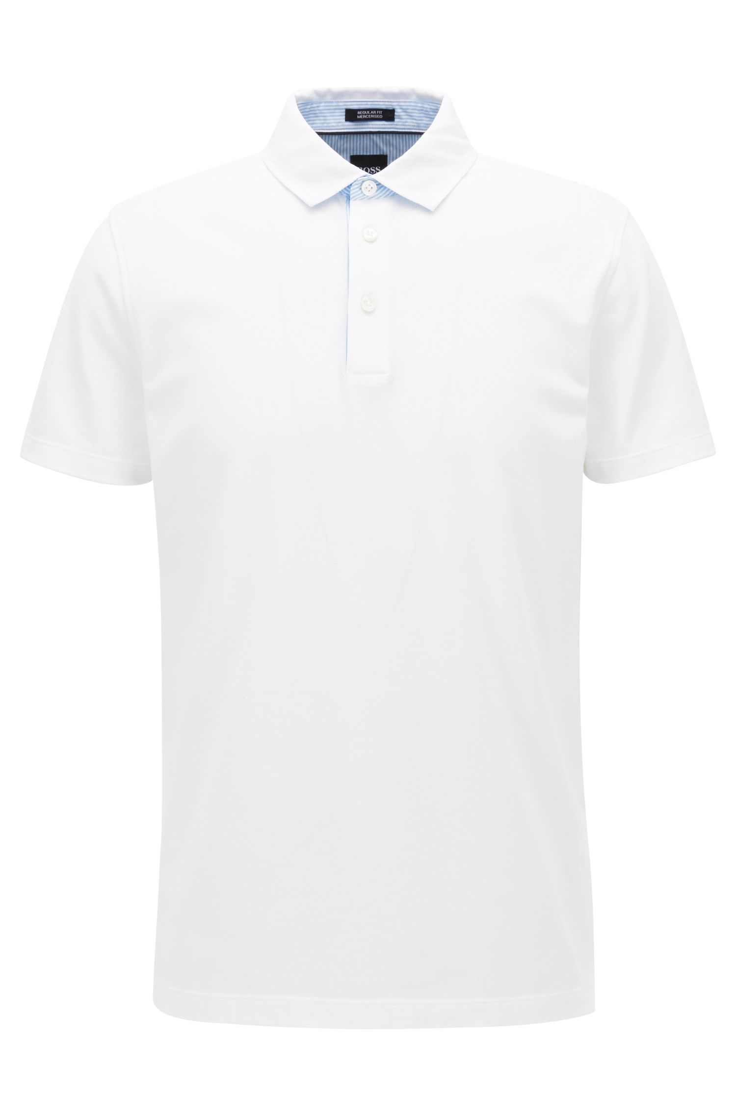 Polo shirt in mercerised piqué cotton