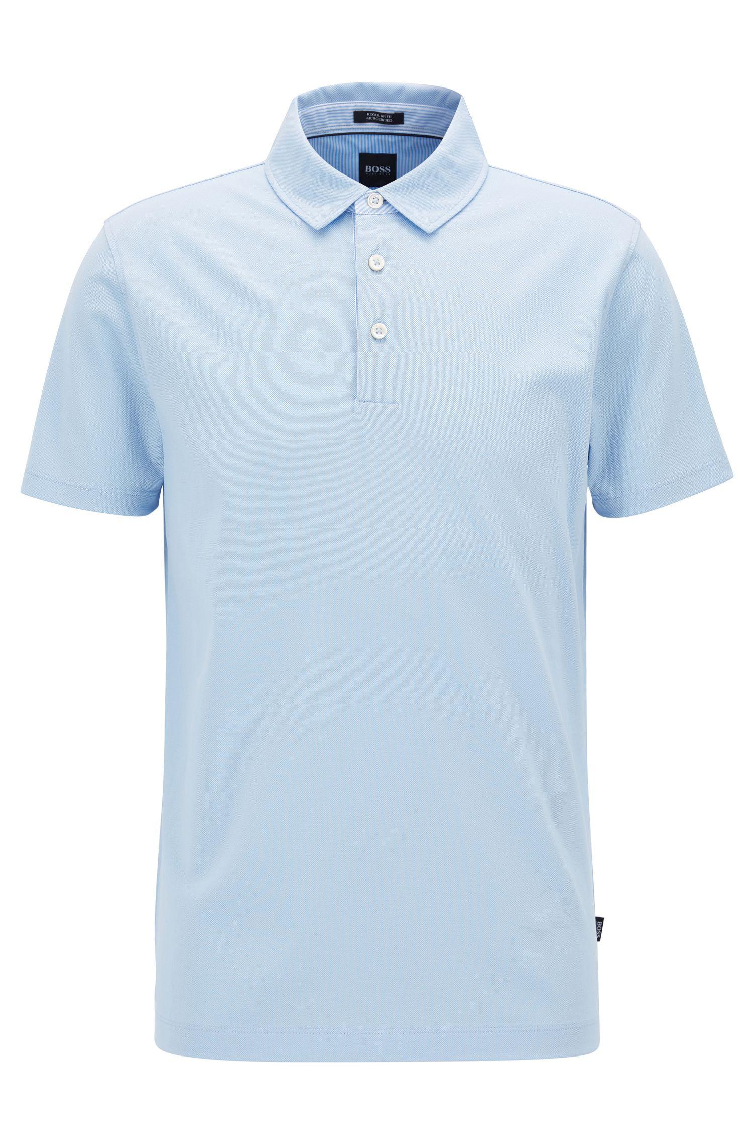Poloshirt aus merzerisiertem Baumwoll-Piqué