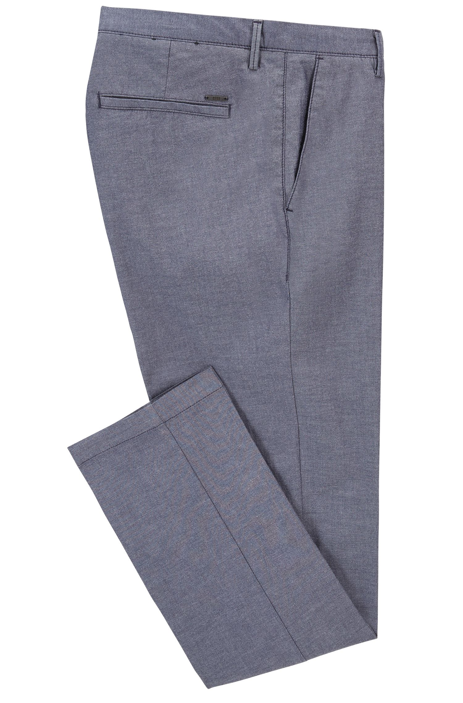 Slim-Fit Chambray-Chino aus Stretch-Baumwolle