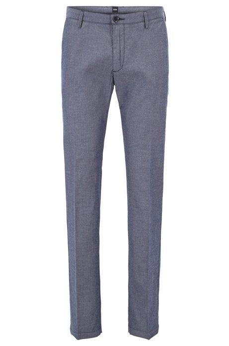 HUGO BOSS Chino Slim Fit en chambray de coton stretch Sy67Rep