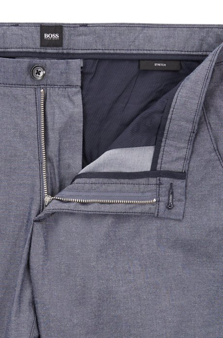 Stretch-cotton chambray chinos in a slim fit BOSS 7EZQc