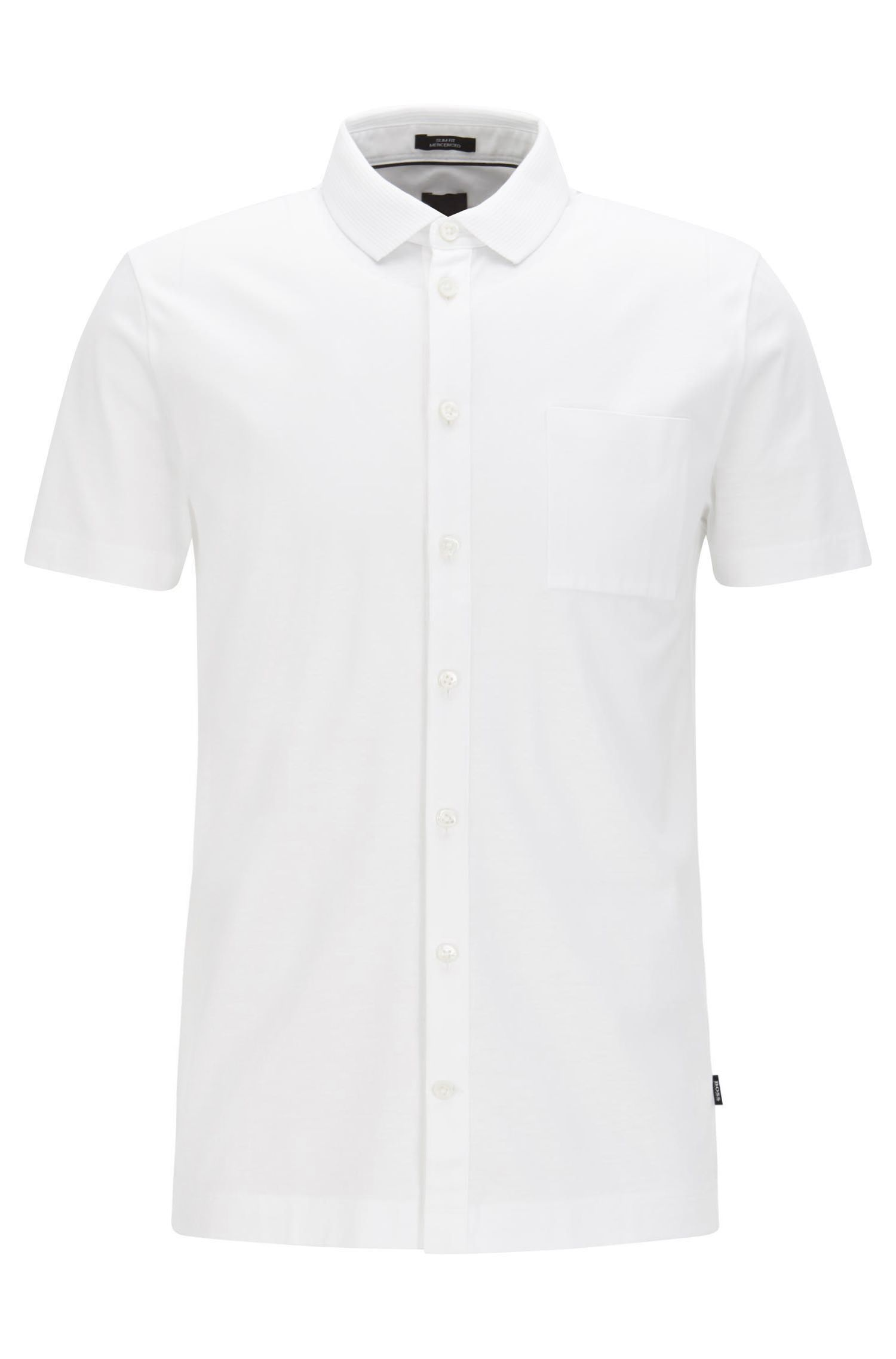 Slim-fit polo shirt in mercerised cotton