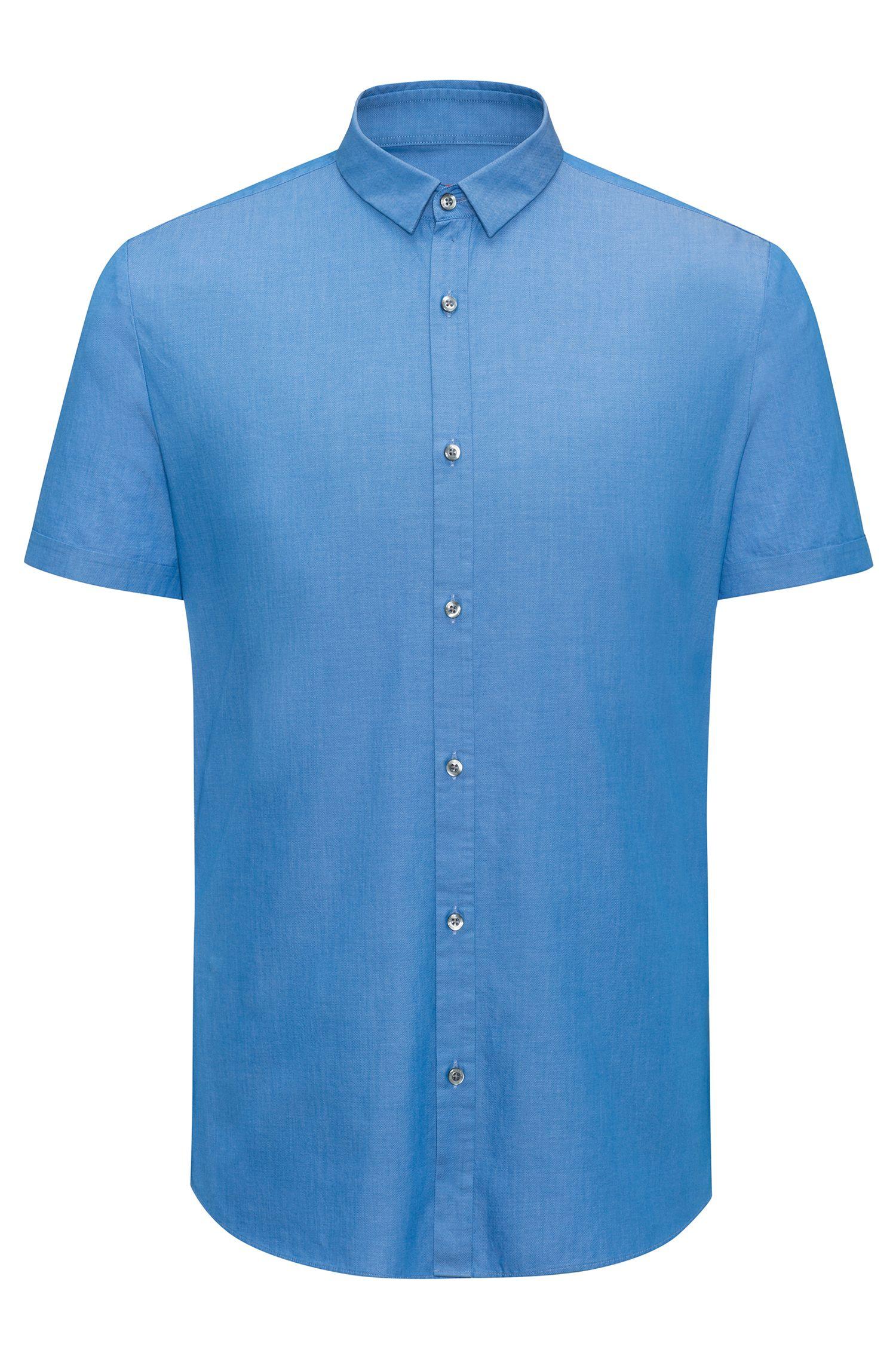 Extra slim-fit overhemd van katoen met dessin