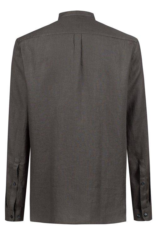 Hugo Boss - Relaxed-Fit Leinenhemd mit Stehkragen - 4