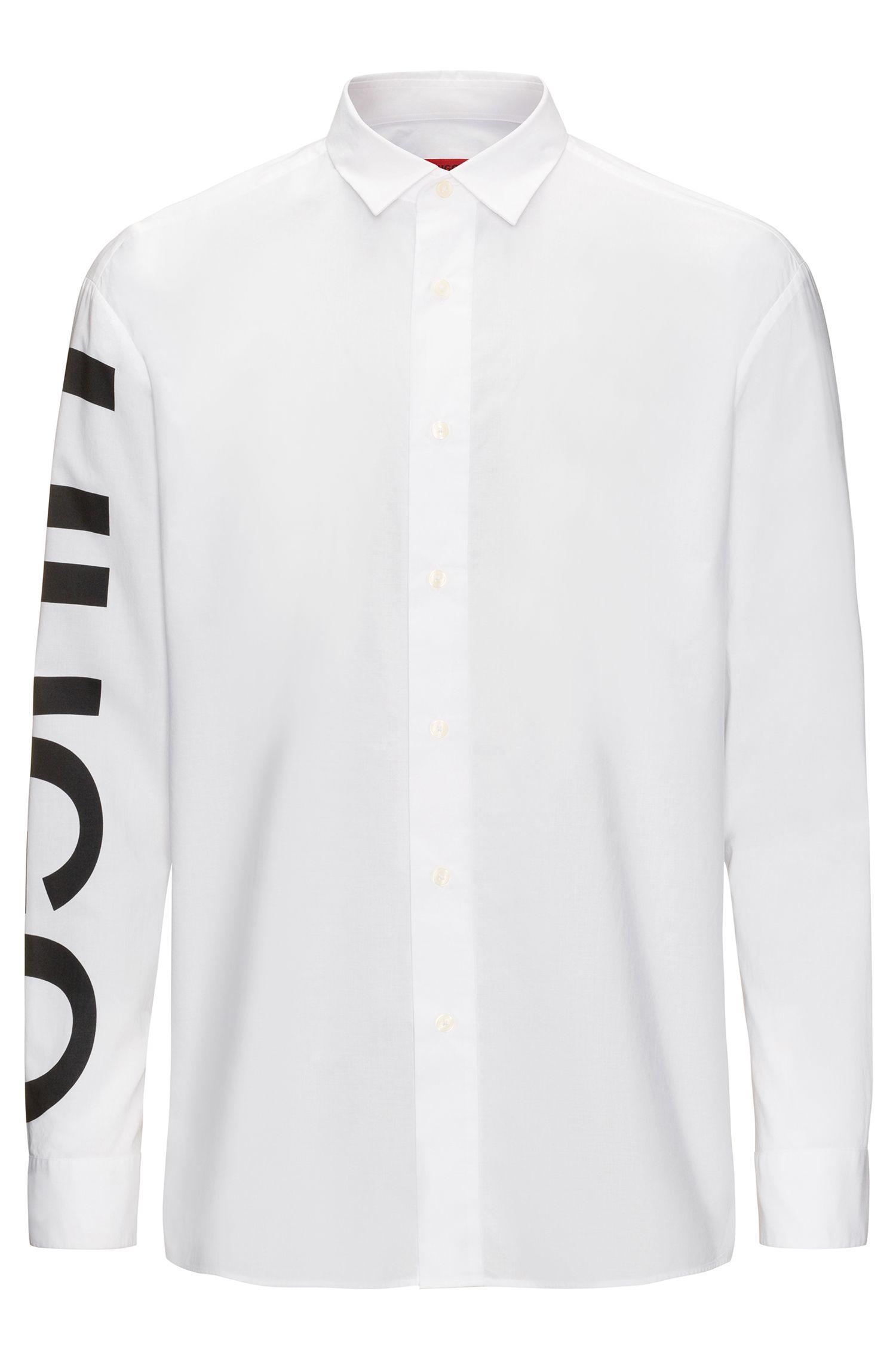 Relaxed-Fit Hemd aus Baumwolle mit Logo-Print am Ärmel
