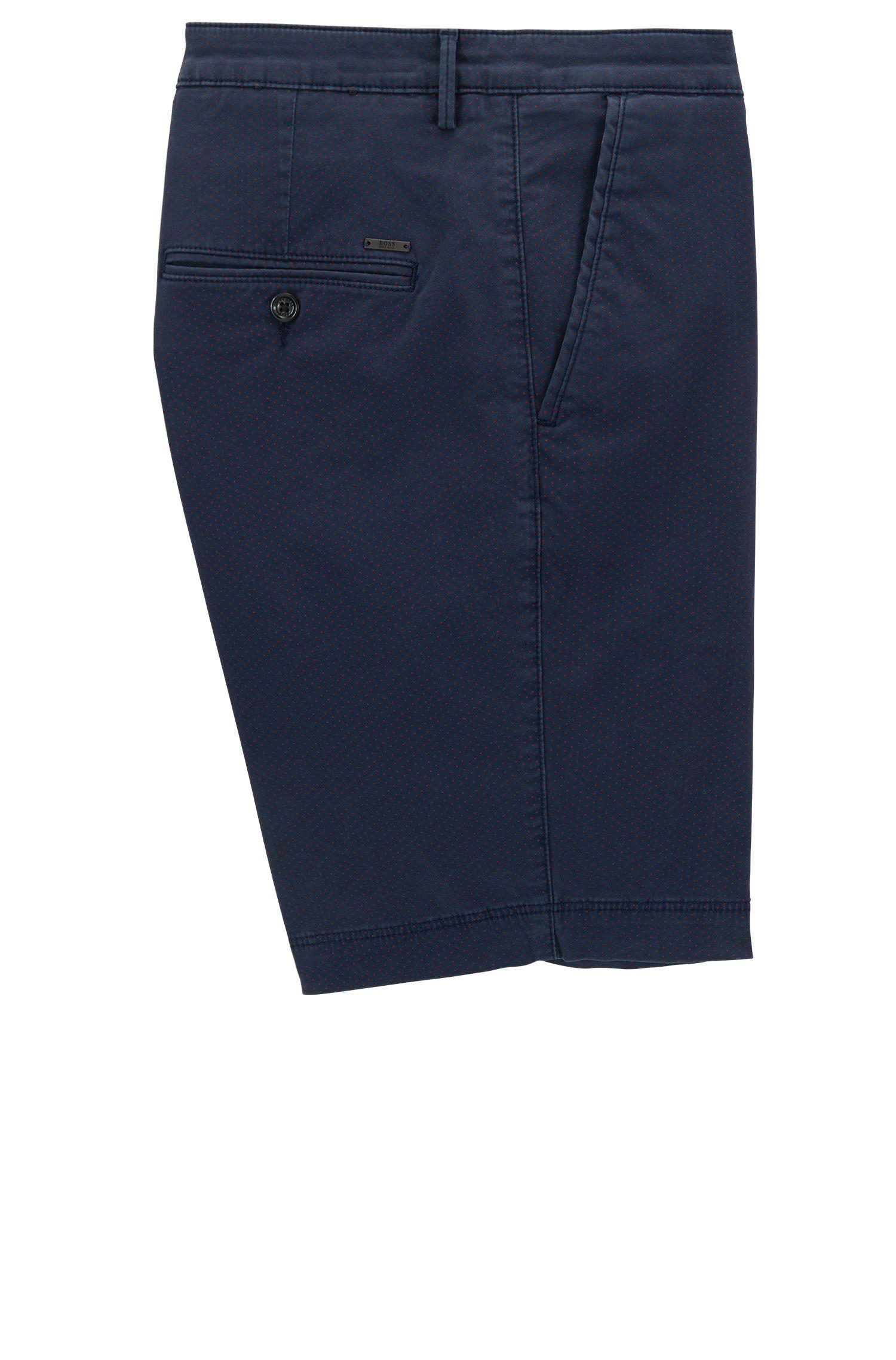 Pantaloncini stampati a gamba dritta in cotone Pima elasticizzato
