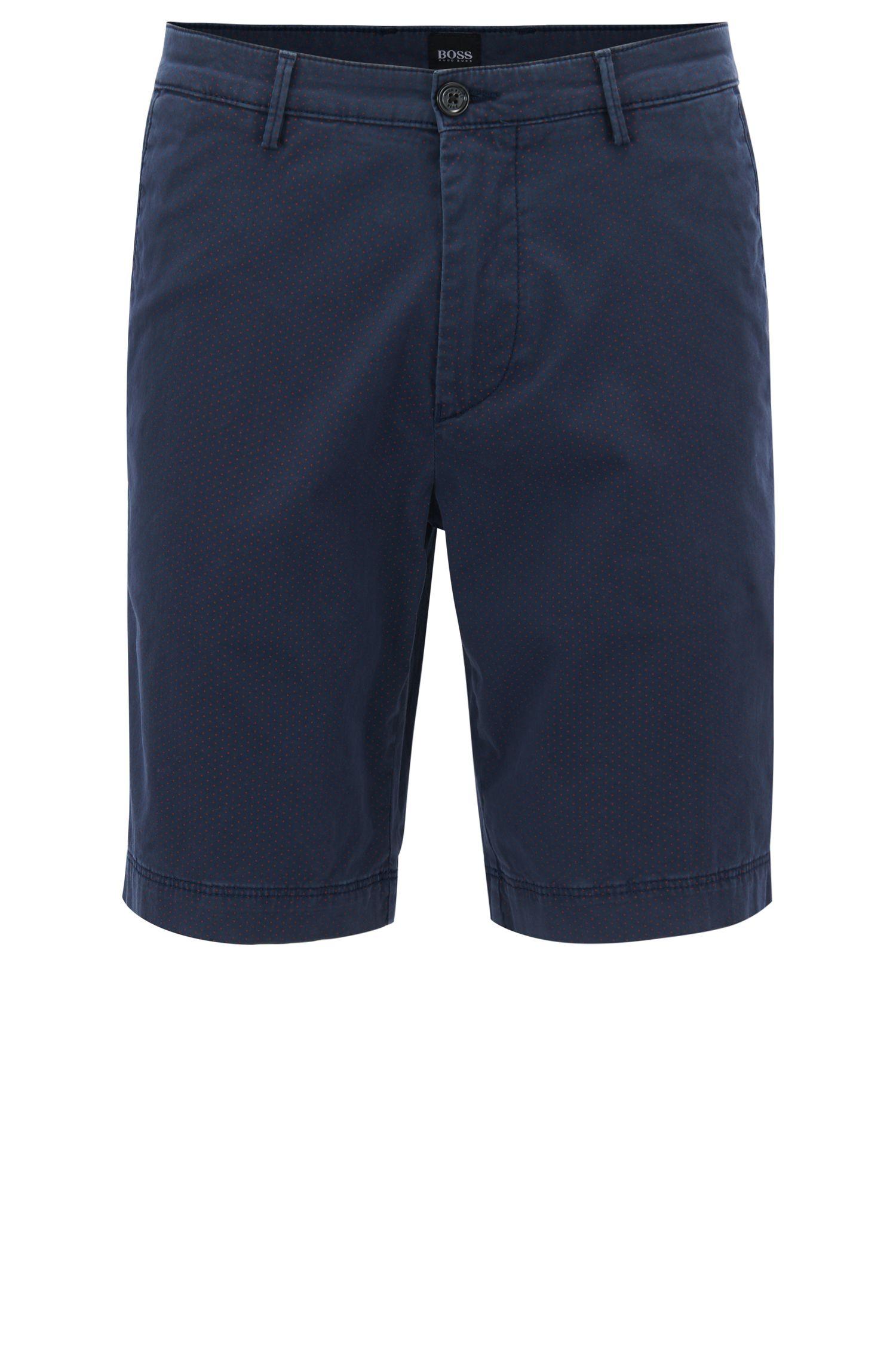Bedruckte Shorts aus elastischer Pima-Baumwolle