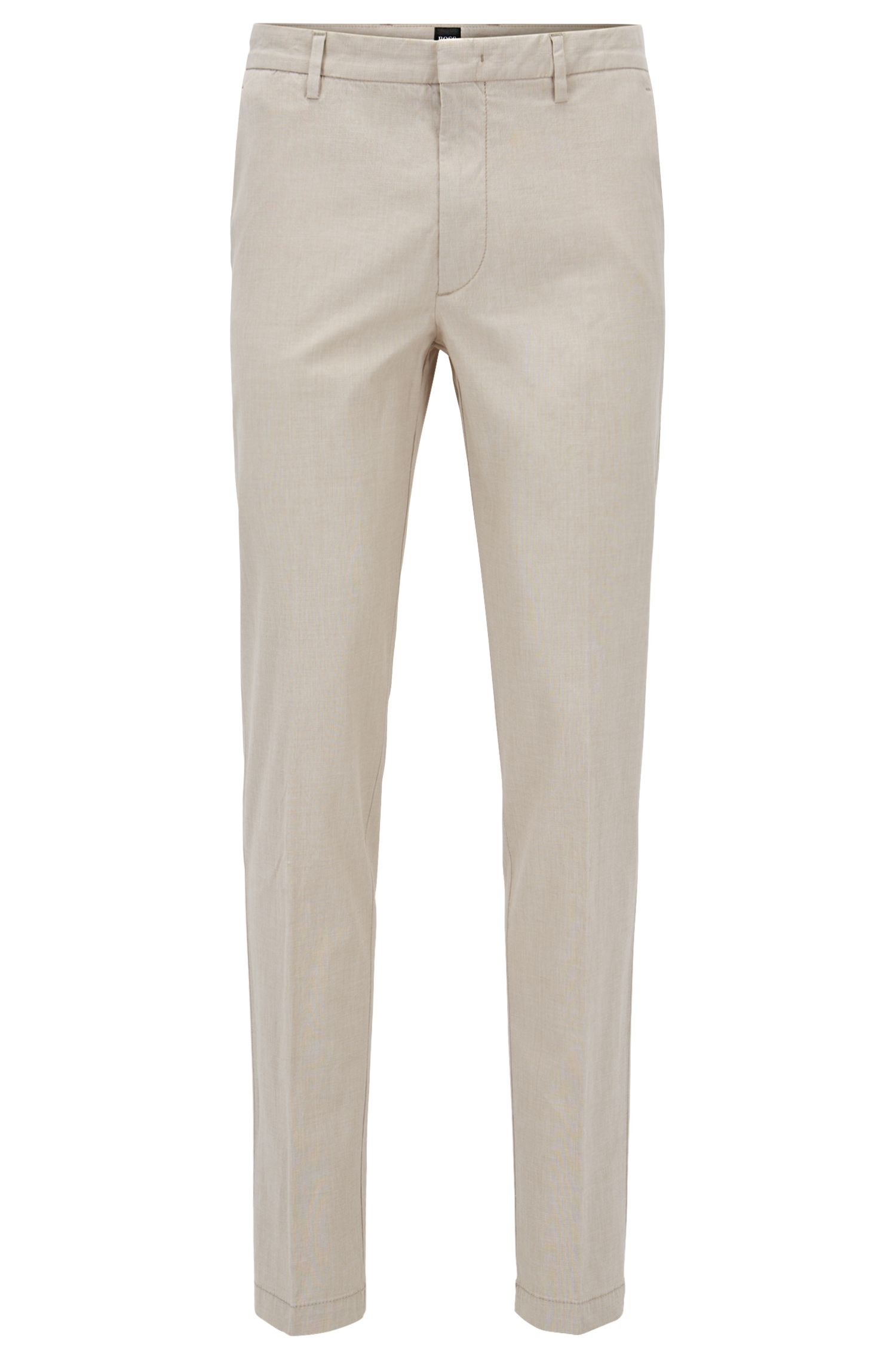 Slim-fit chinos in Italian stretch cotton BOSS