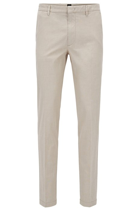 Slim-fit chinos in Italian stretch cotton BOSS 1moOuw