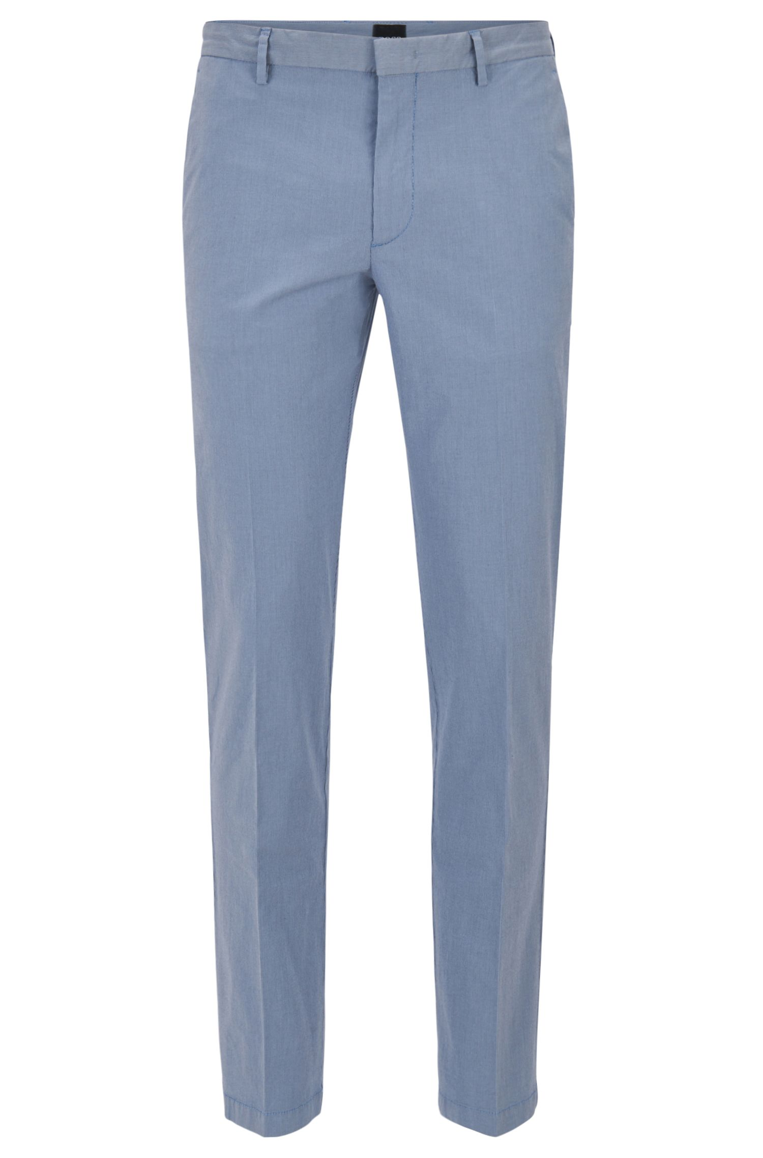 Slim-fit chinos in Italian stretch cotton