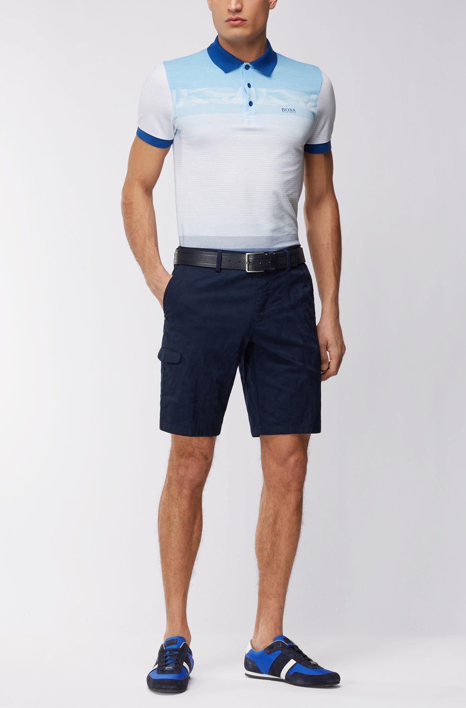 Polo Slim Fit à motif en piqué de coton