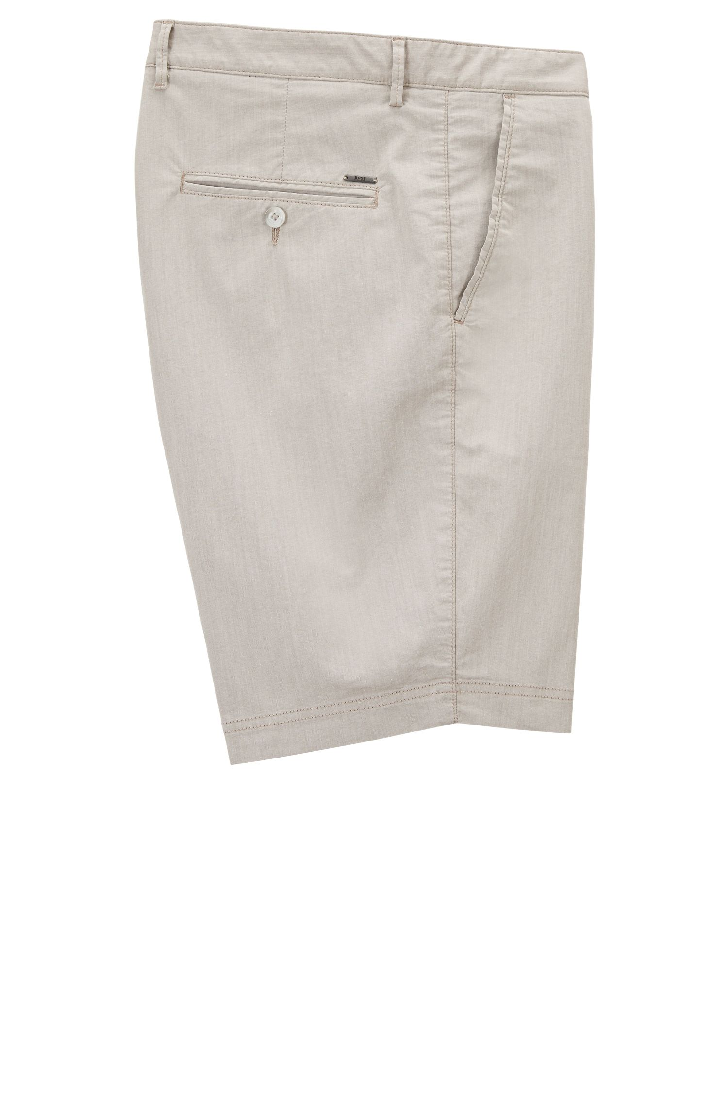 Regular-Fit Shorts aus italienischem Baumwoll-Mix