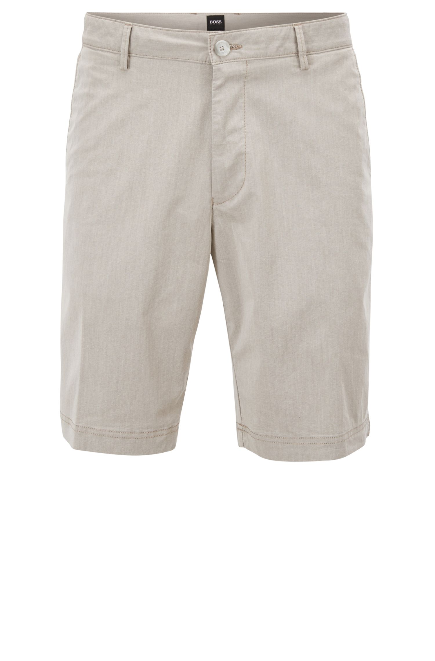Regular-fit shorts in Italian cotton blend BOSS
